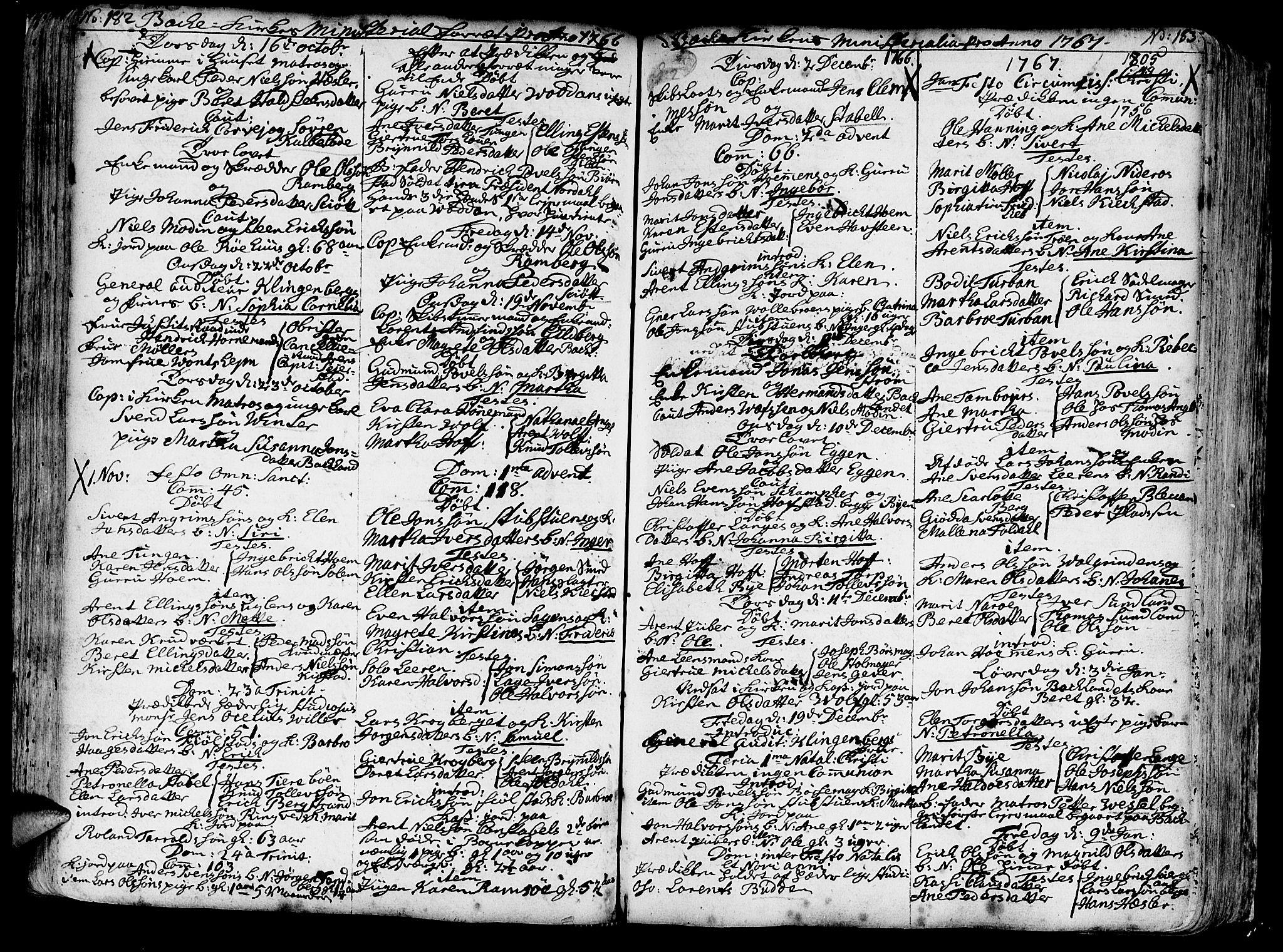 SAT, Ministerialprotokoller, klokkerbøker og fødselsregistre - Sør-Trøndelag, 606/L0276: Ministerialbok nr. 606A01 /2, 1727-1779, s. 182-183