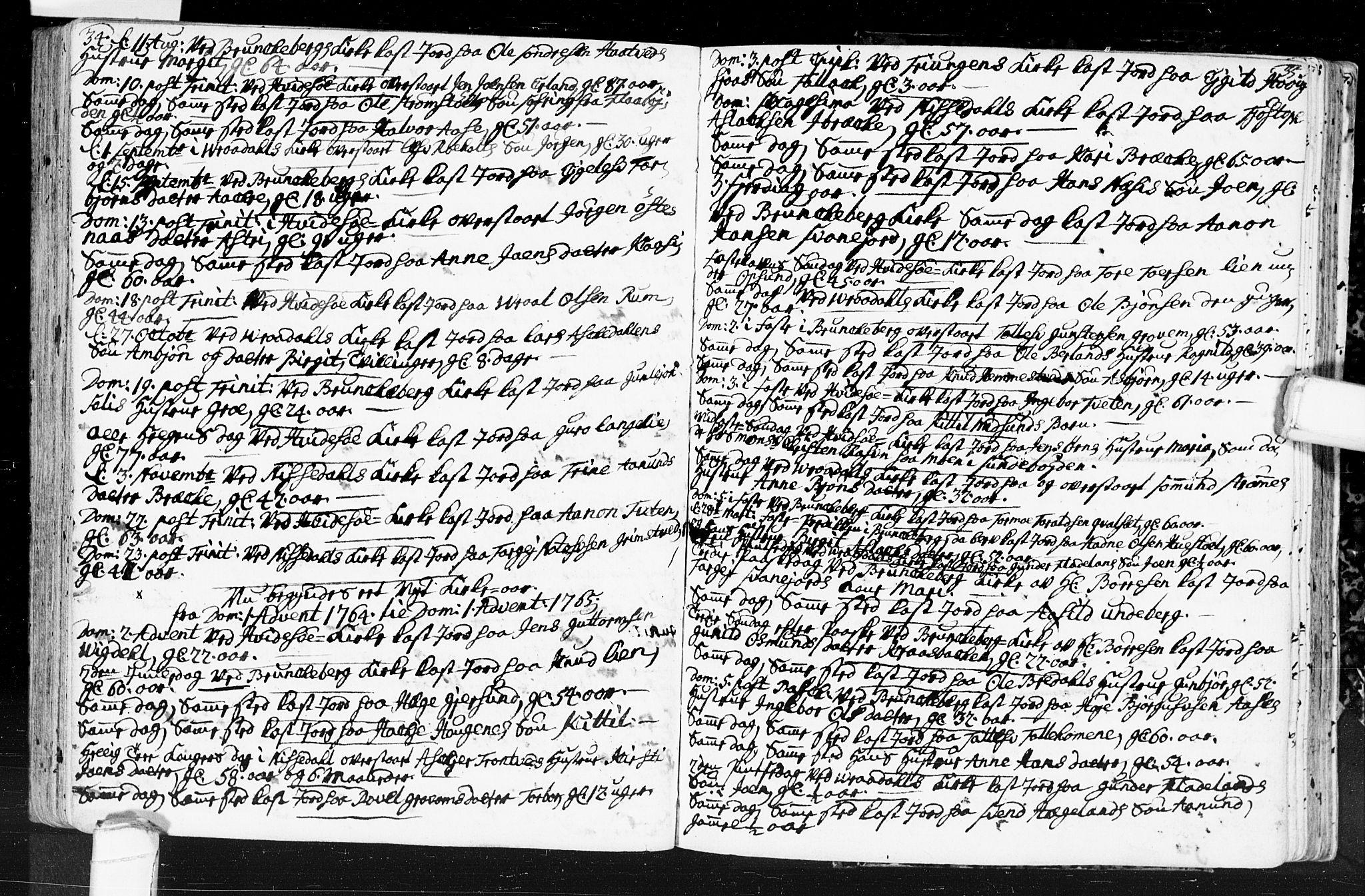 SAKO, Kviteseid kirkebøker, F/Fa/L0001: Ministerialbok nr. I 1, 1754-1773, s. 34-35