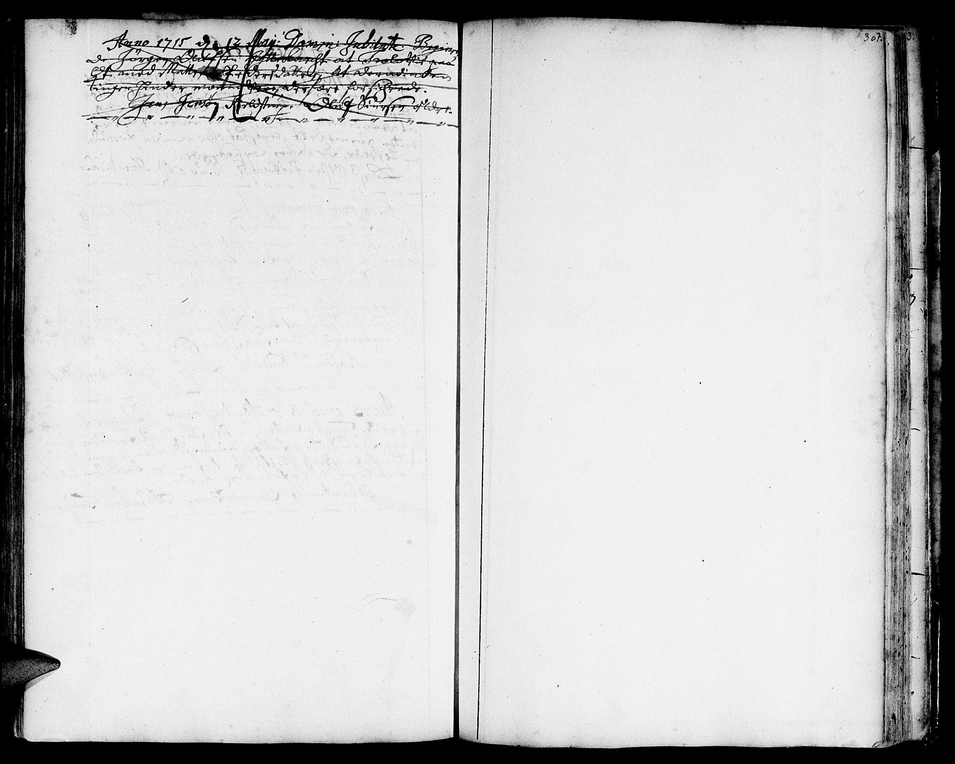 SAT, Ministerialprotokoller, klokkerbøker og fødselsregistre - Sør-Trøndelag, 668/L0801: Ministerialbok nr. 668A01, 1695-1716, s. 306-307