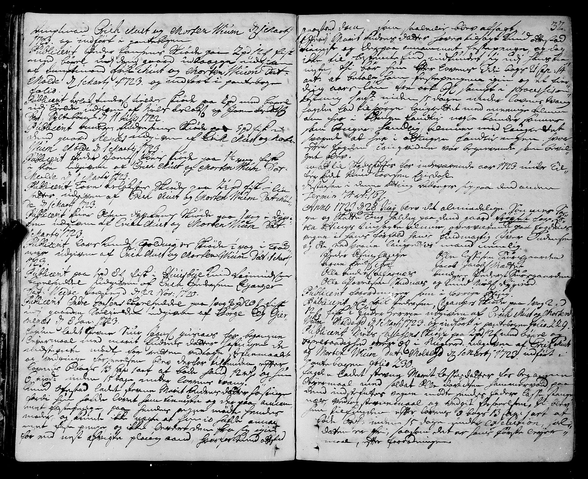 SAT, Romsdal sorenskriveri, 1/1A/L0009: Tingbok, 1722-1728, s. 31b-32a