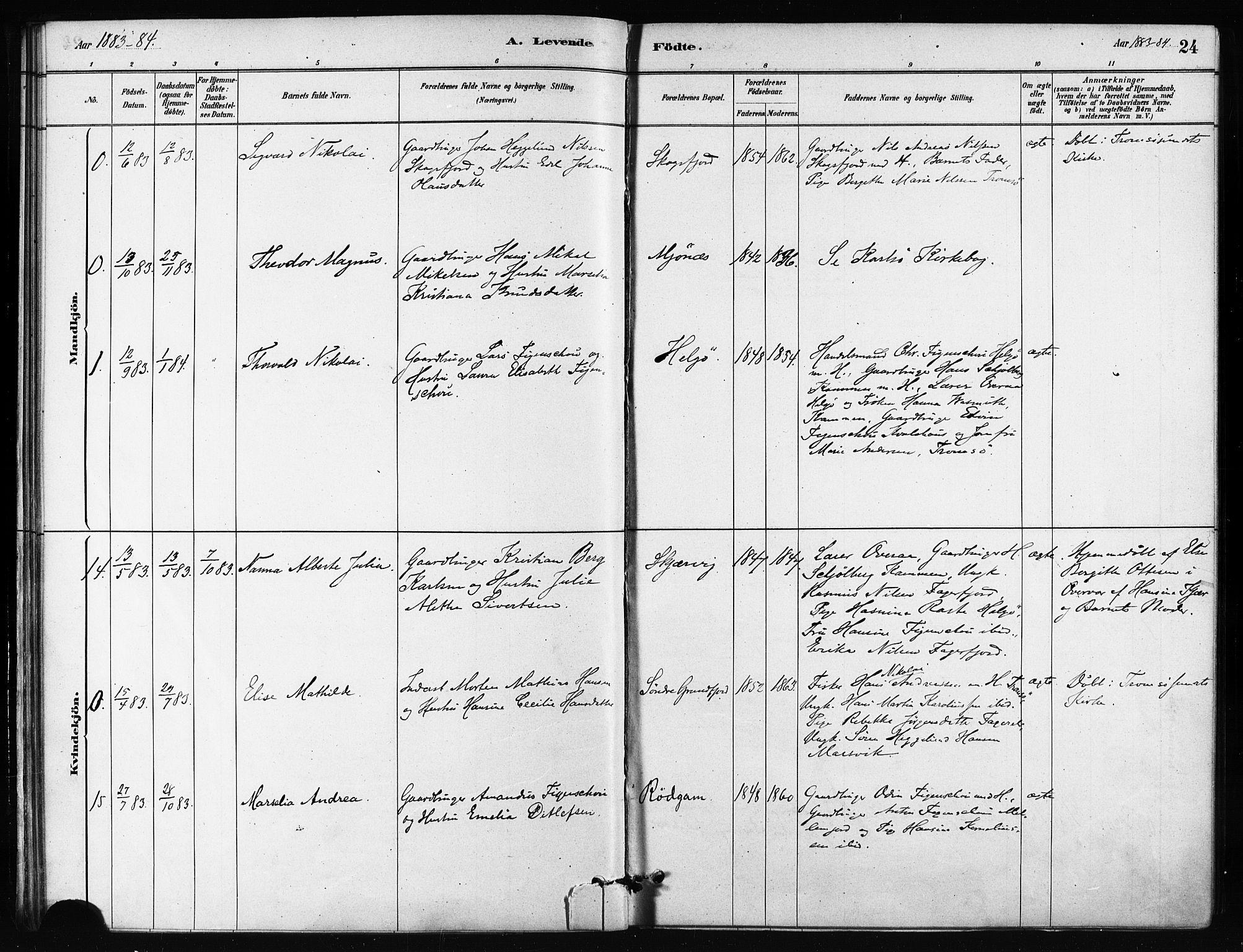 SATØ, Karlsøy sokneprestembete, H/Ha/Haa/L0011kirke: Ministerialbok nr. 11, 1879-1892, s. 24