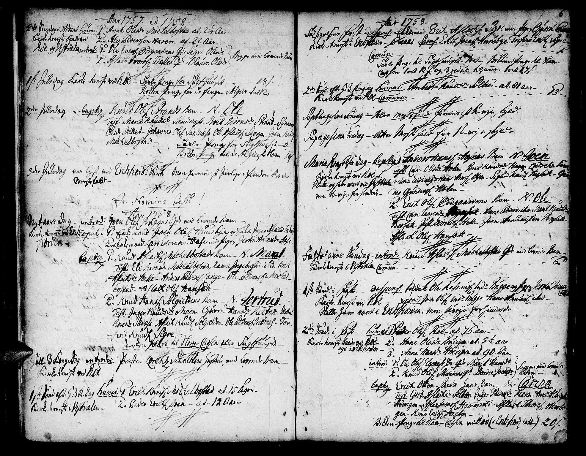 SAT, Ministerialprotokoller, klokkerbøker og fødselsregistre - Møre og Romsdal, 551/L0621: Ministerialbok nr. 551A01, 1757-1803, s. 6