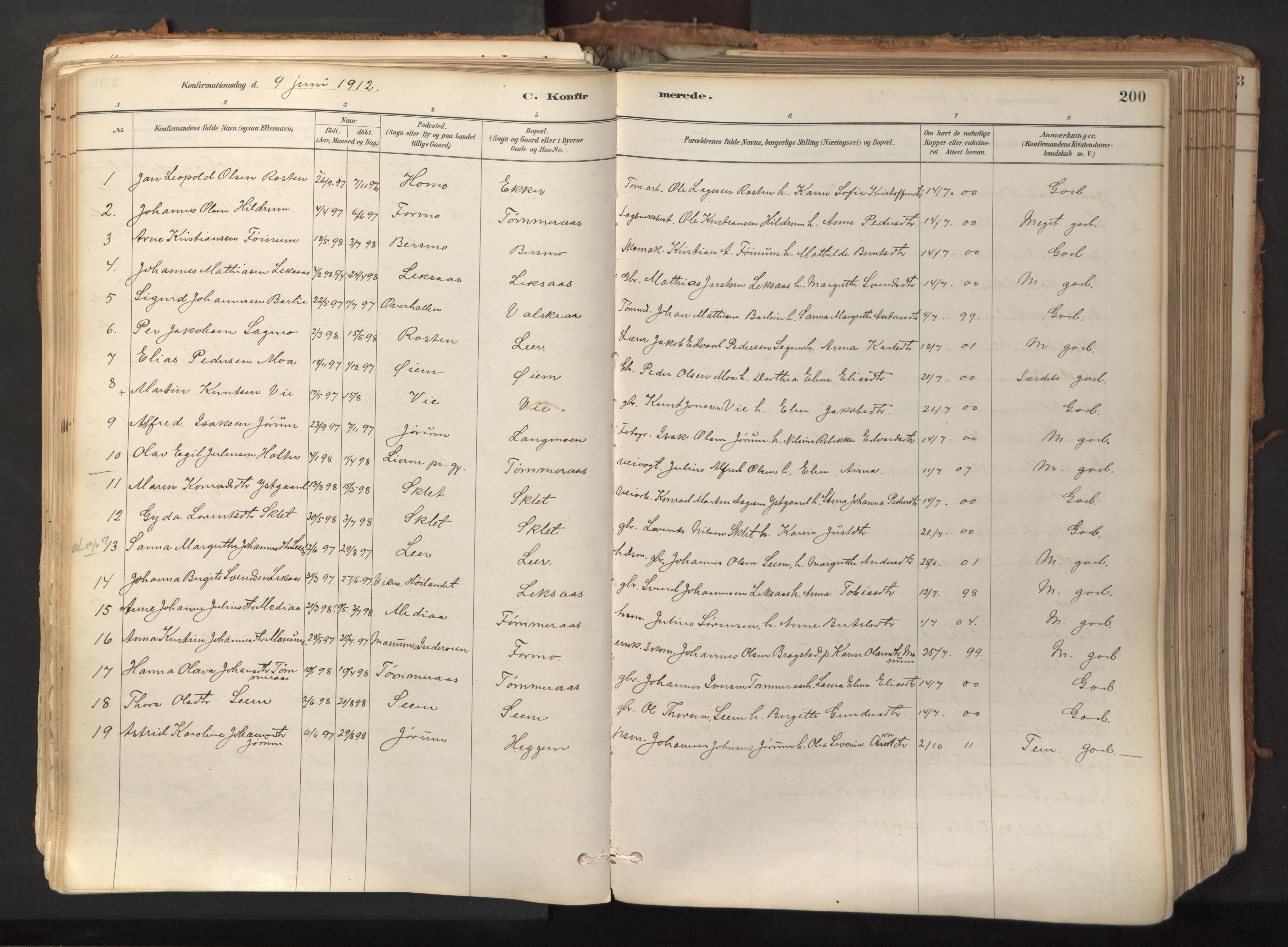 SAT, Ministerialprotokoller, klokkerbøker og fødselsregistre - Nord-Trøndelag, 758/L0519: Ministerialbok nr. 758A04, 1880-1926, s. 200