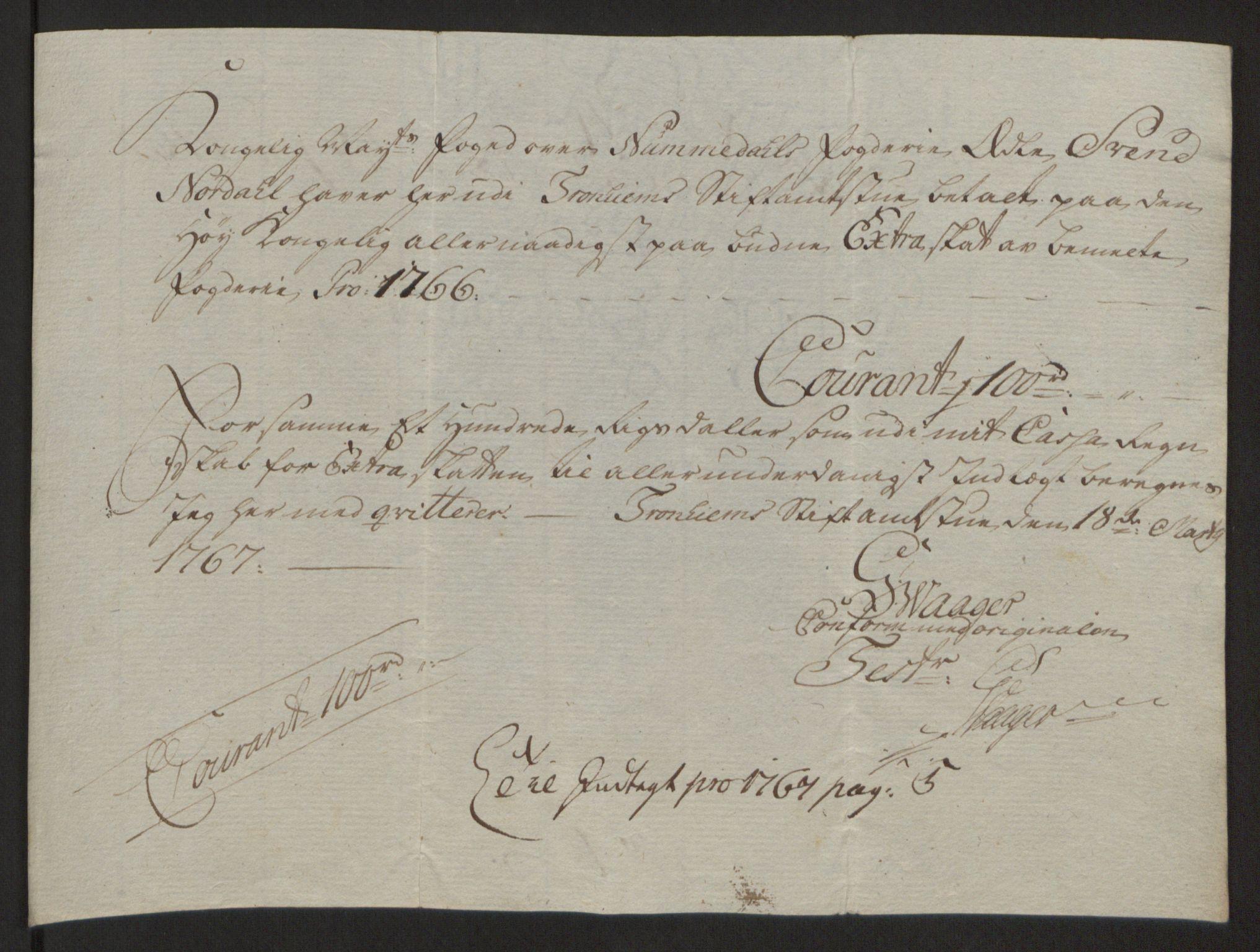 RA, Rentekammeret inntil 1814, Reviderte regnskaper, Fogderegnskap, R64/L4502: Ekstraskatten Namdal, 1762-1772, s. 245