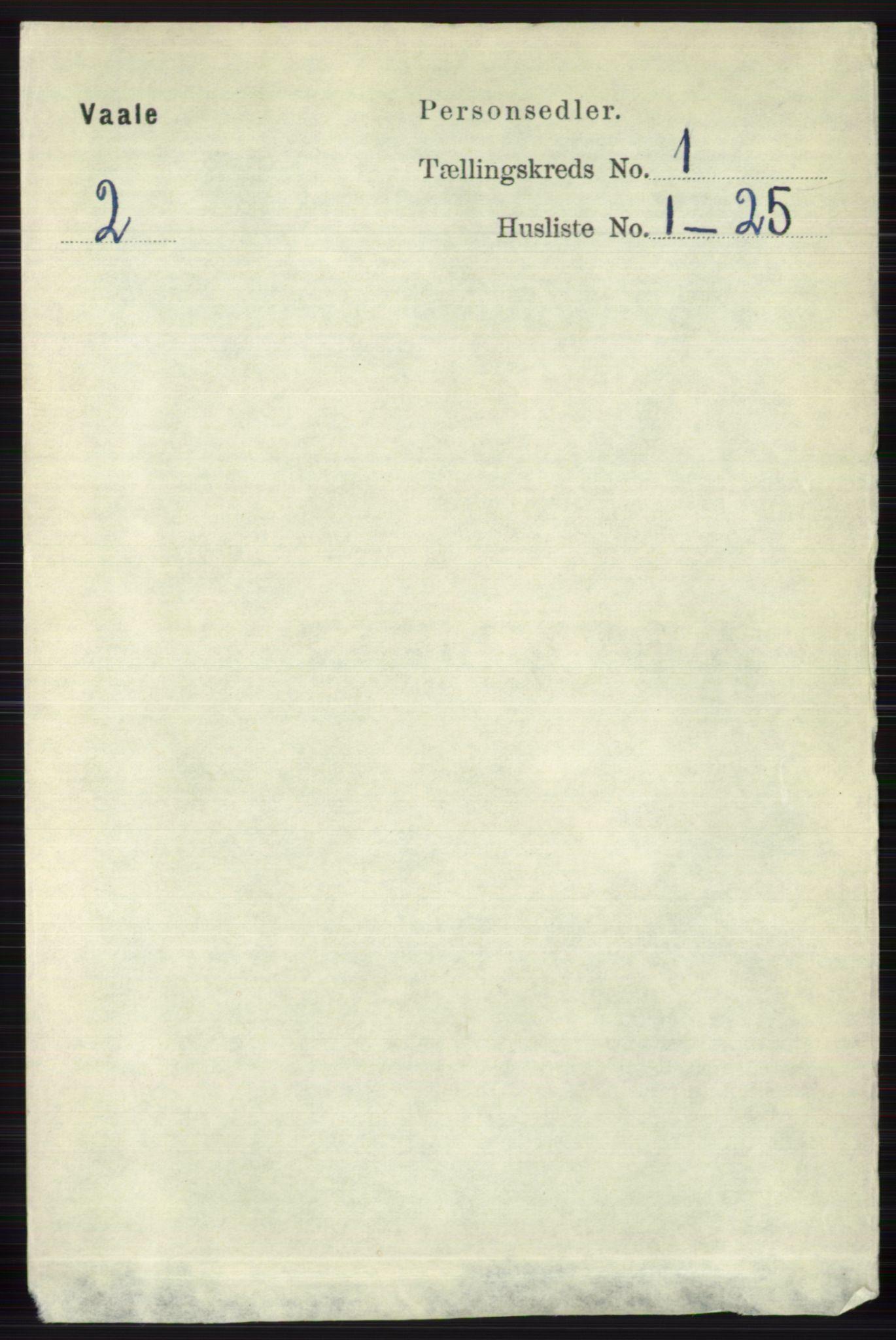 RA, Folketelling 1891 for 0716 Våle herred, 1891, s. 82