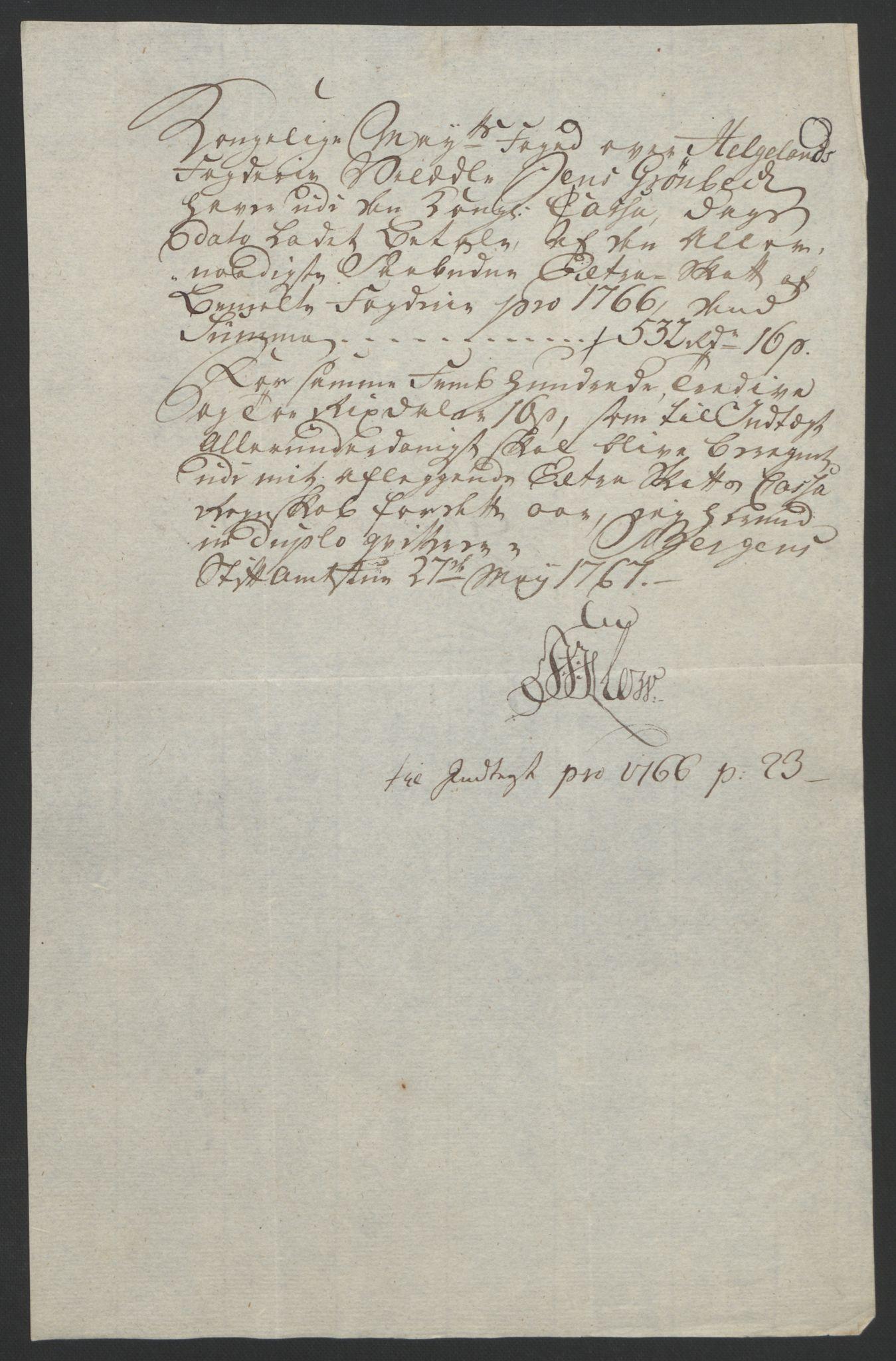 RA, Rentekammeret inntil 1814, Reviderte regnskaper, Fogderegnskap, R65/L4573: Ekstraskatten Helgeland, 1762-1772, s. 142