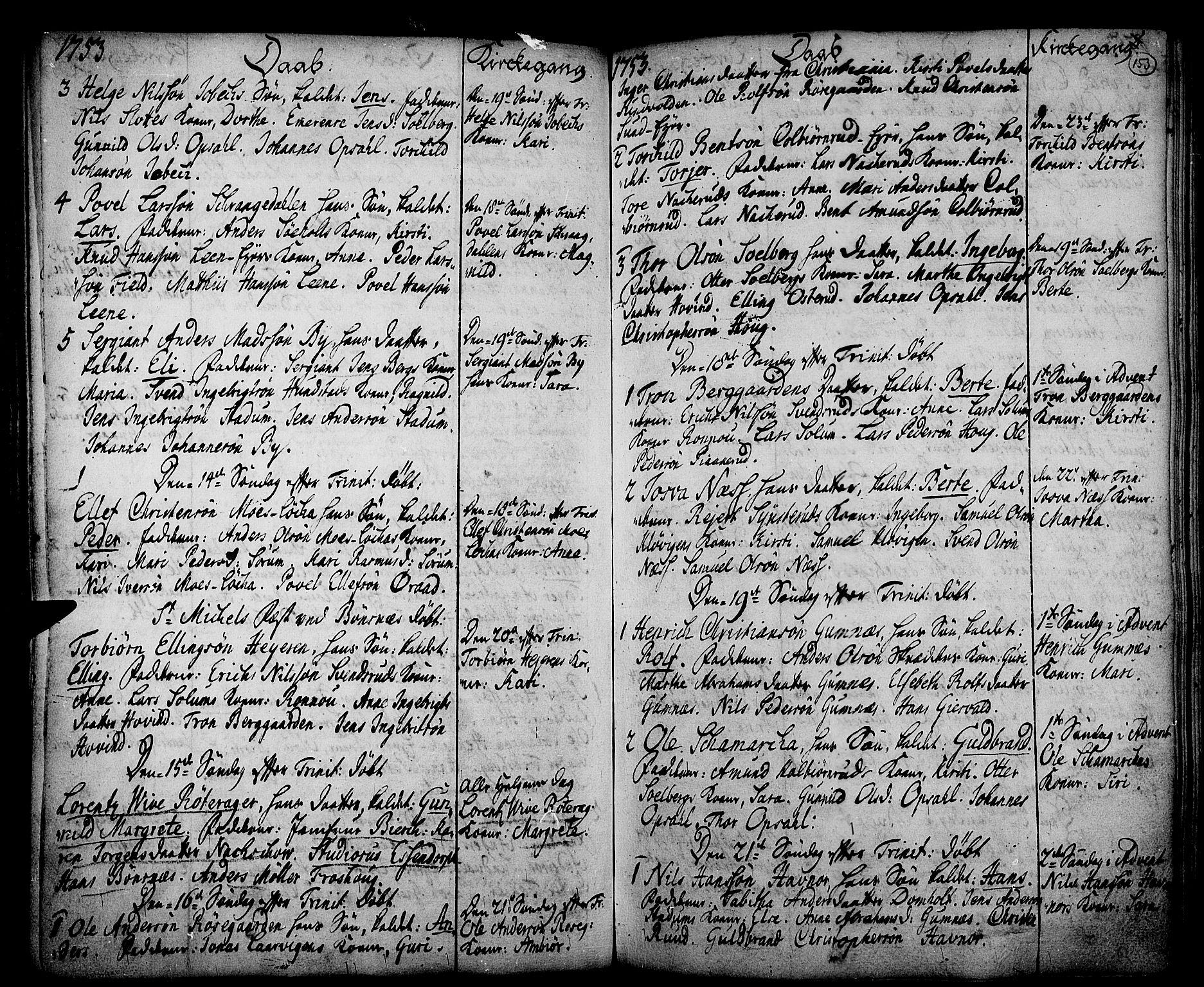 SAKO, Hole kirkebøker, F/Fa/L0001: Ministerialbok nr. I 1, 1716-1765, s. 153