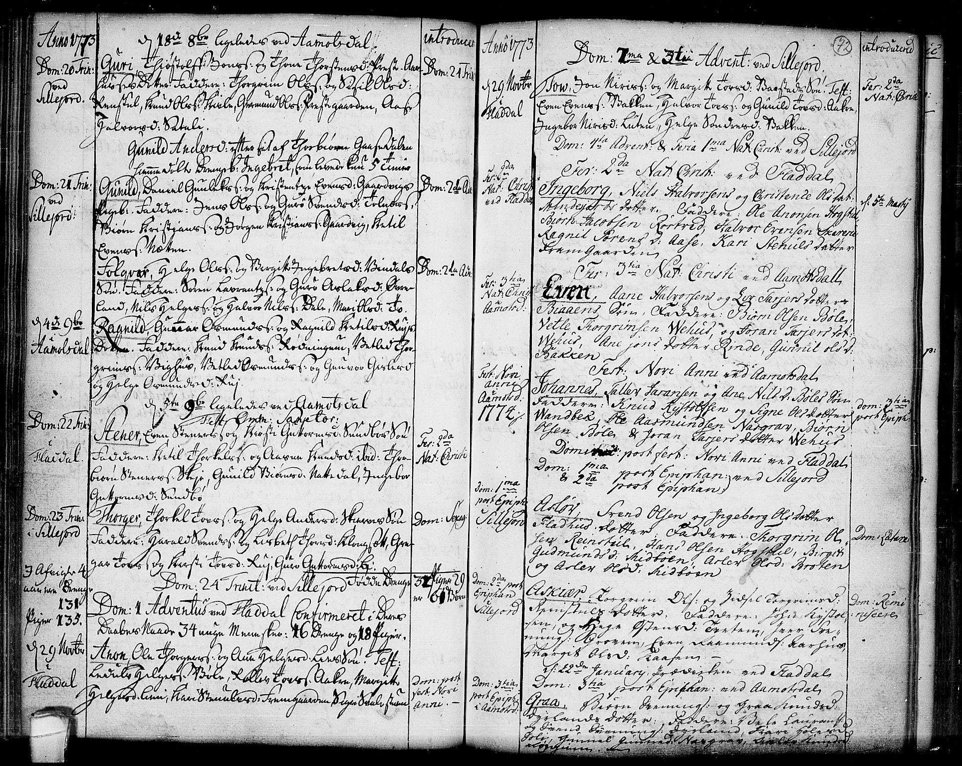 SAKO, Seljord kirkebøker, F/Fa/L0007: Ministerialbok nr. I 7, 1755-1800, s. 72