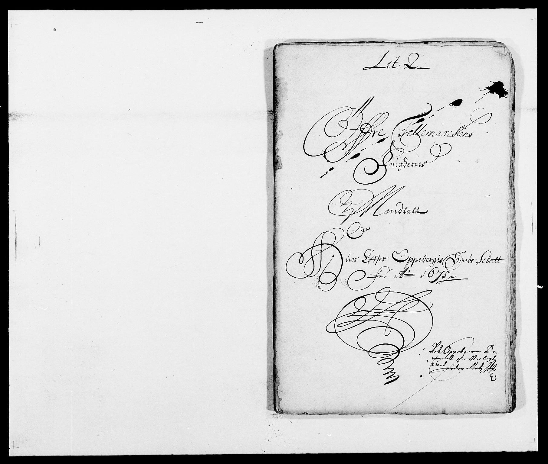 RA, Rentekammeret inntil 1814, Reviderte regnskaper, Fogderegnskap, R35/L2064: Fogderegnskap Øvre og Nedre Telemark, 1675, s. 160