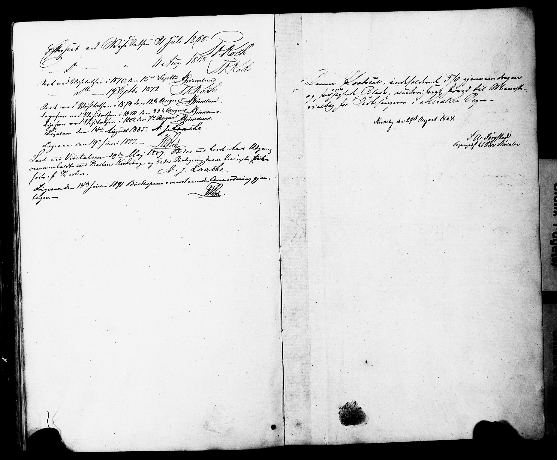 SAT, Ministerialprotokoller, klokkerbøker og fødselsregistre - Nord-Trøndelag, 706/L0049: Klokkerbok nr. 706C01, 1864-1895