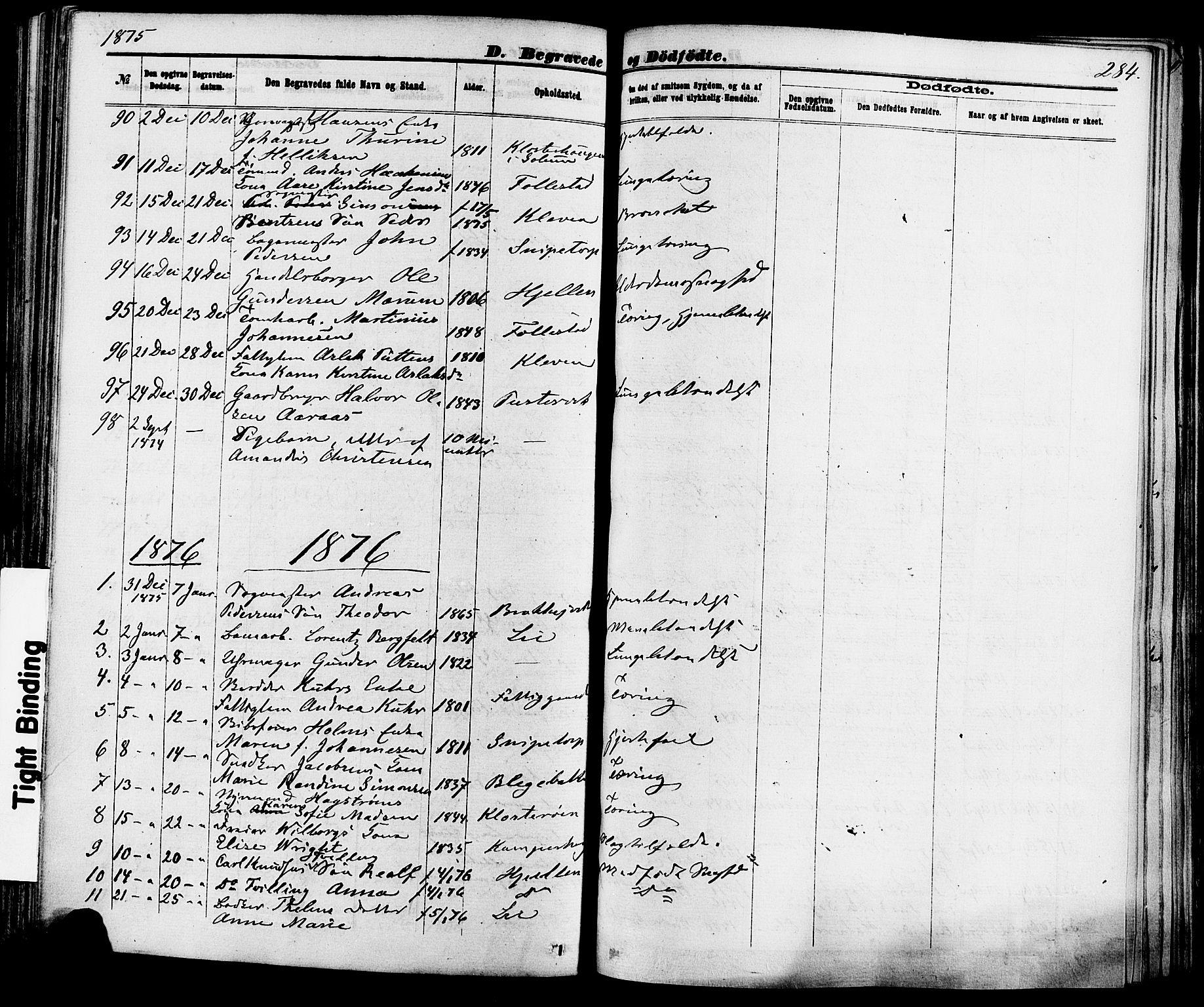 SAKO, Skien kirkebøker, F/Fa/L0008: Ministerialbok nr. 8, 1866-1877, s. 284