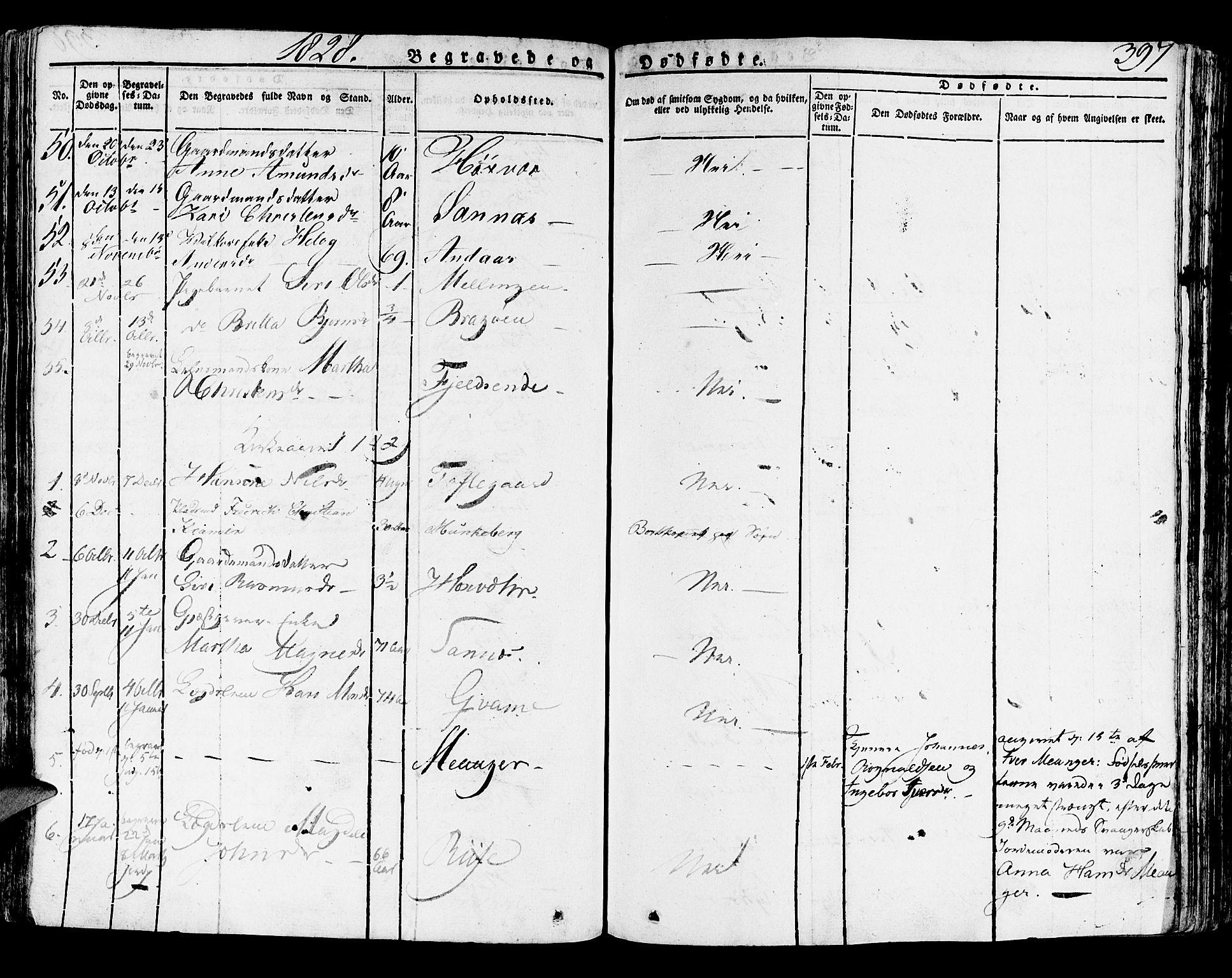 SAB, Lindås Sokneprestembete, H/Haa: Ministerialbok nr. A 8, 1823-1836, s. 397