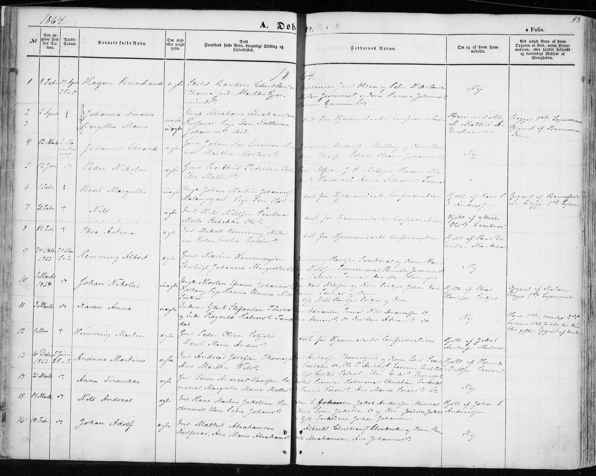 SATØ, Balsfjord sokneprestembete, Ministerialbok nr. 3, 1856-1870, s. 53