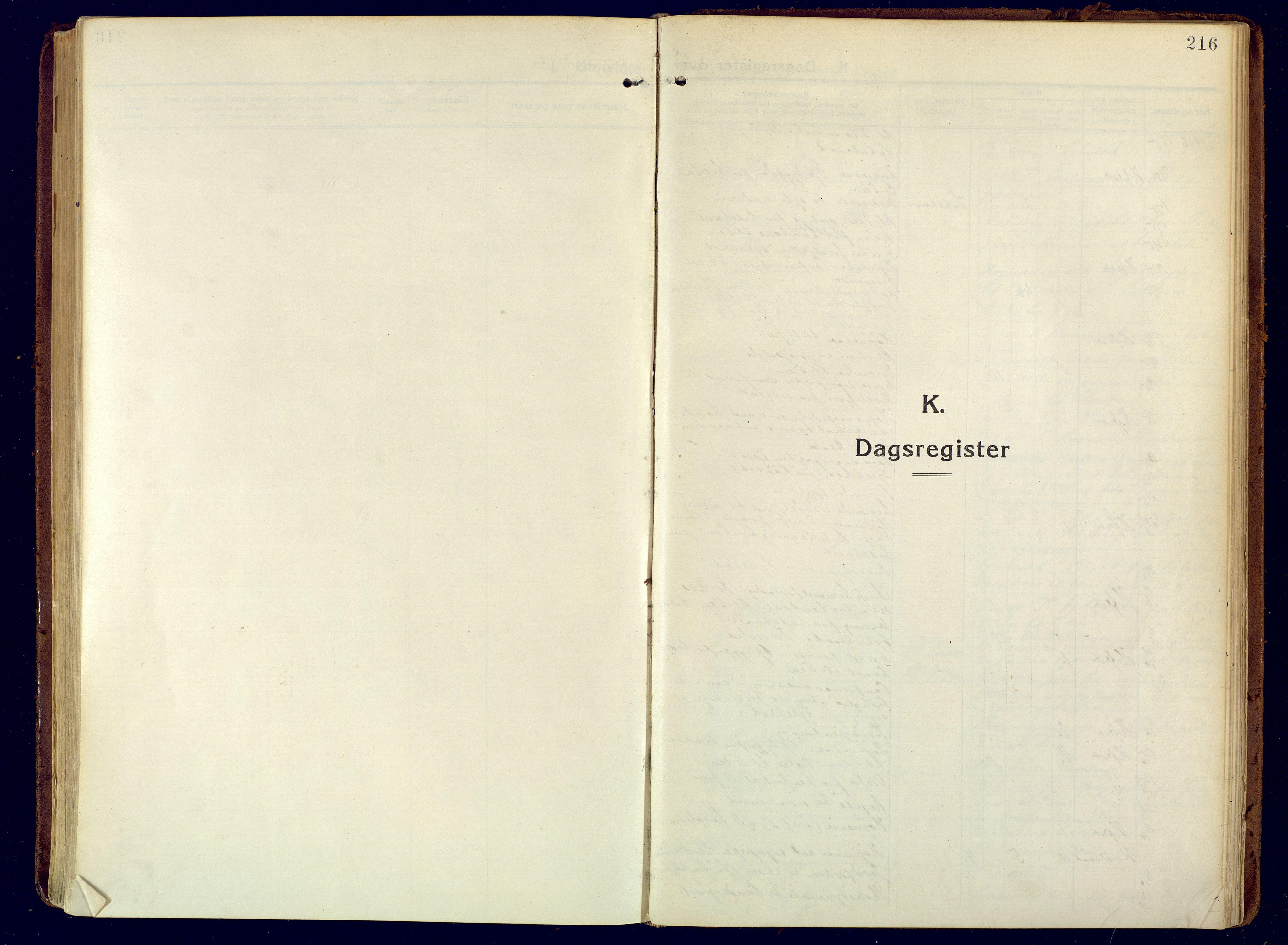 SATØ, Hammerfest sokneprestembete, Ministerialbok nr. 15, 1916-1923, s. 216