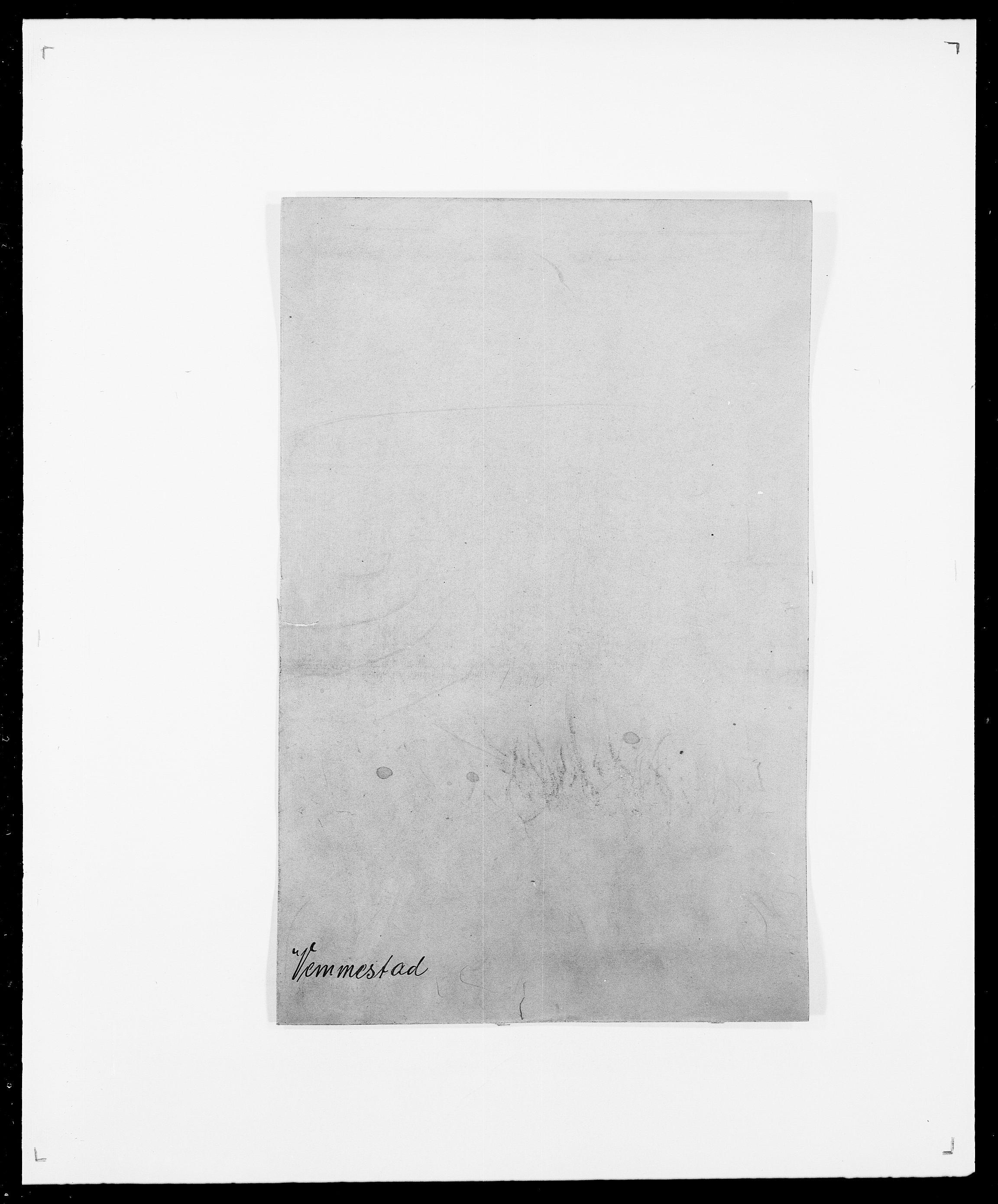 SAO, Delgobe, Charles Antoine - samling, D/Da/L0041: Vemmestad - Viker, s. 1