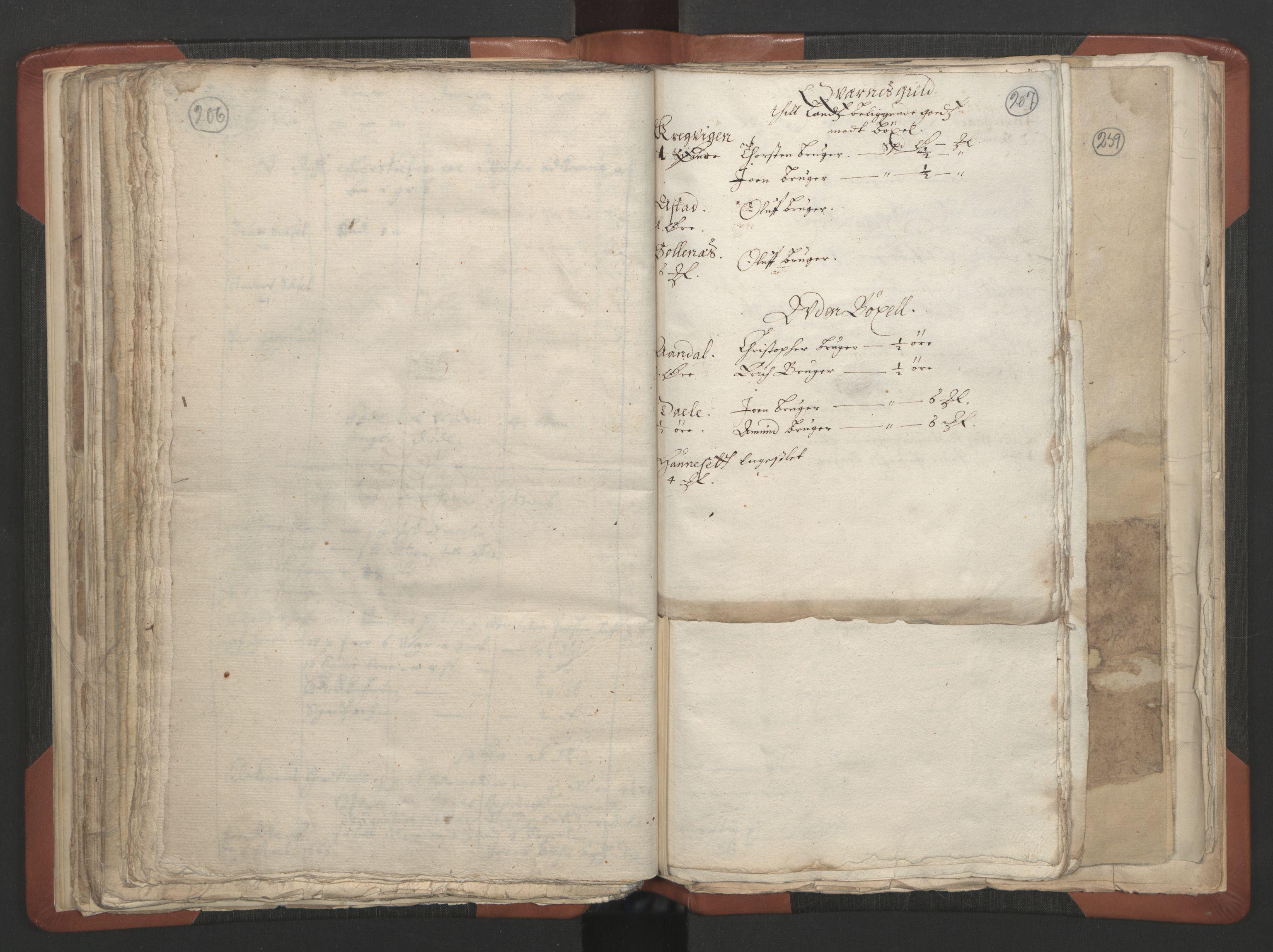 RA, Sogneprestenes manntall 1664-1666, nr. 28: Nordmøre prosti, 1664-1666, s. 206-207