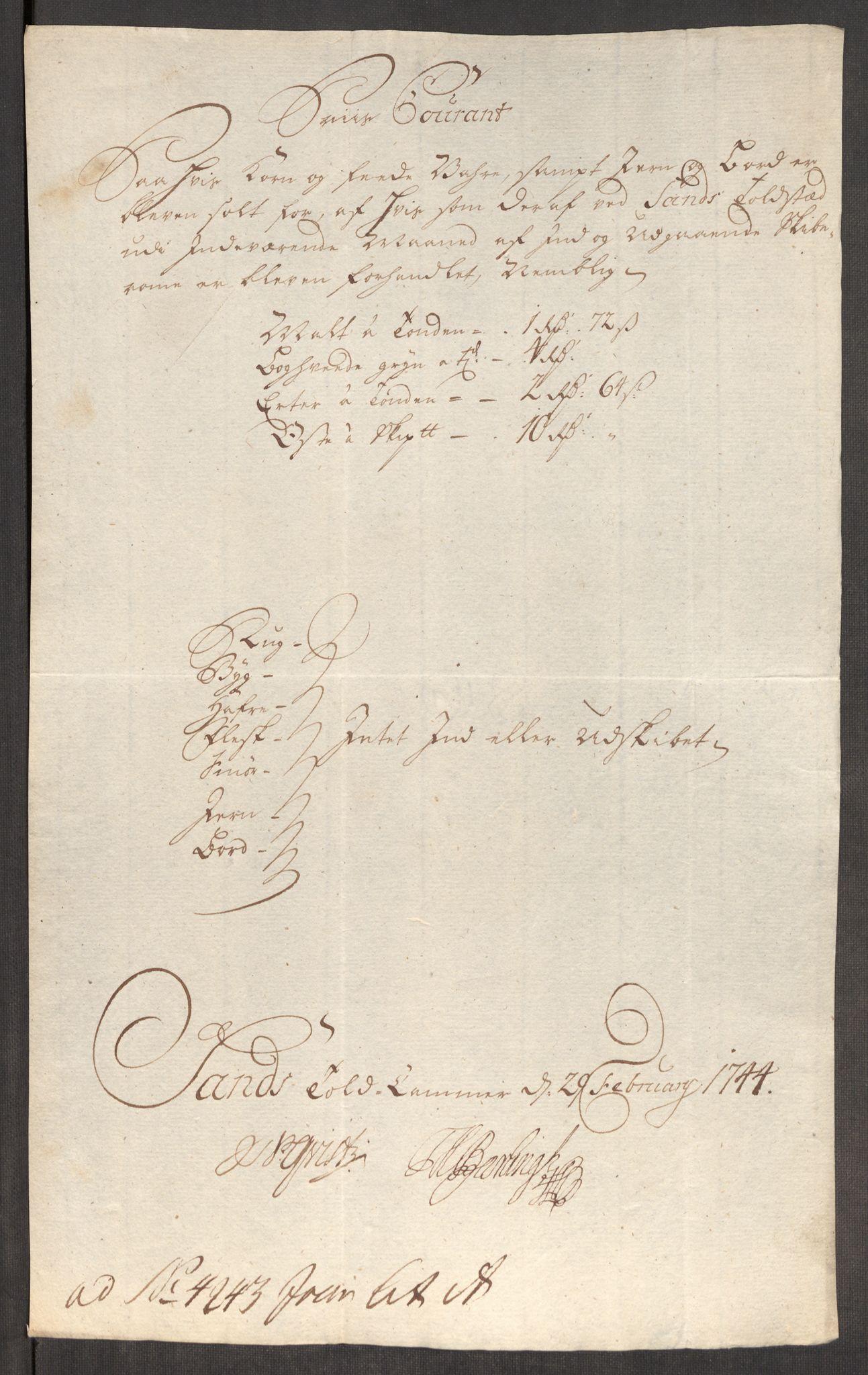 RA, Rentekammeret inntil 1814, Realistisk ordnet avdeling, Oe/L0002: [Ø1]: Priskuranter, 1740-1744, s. 867