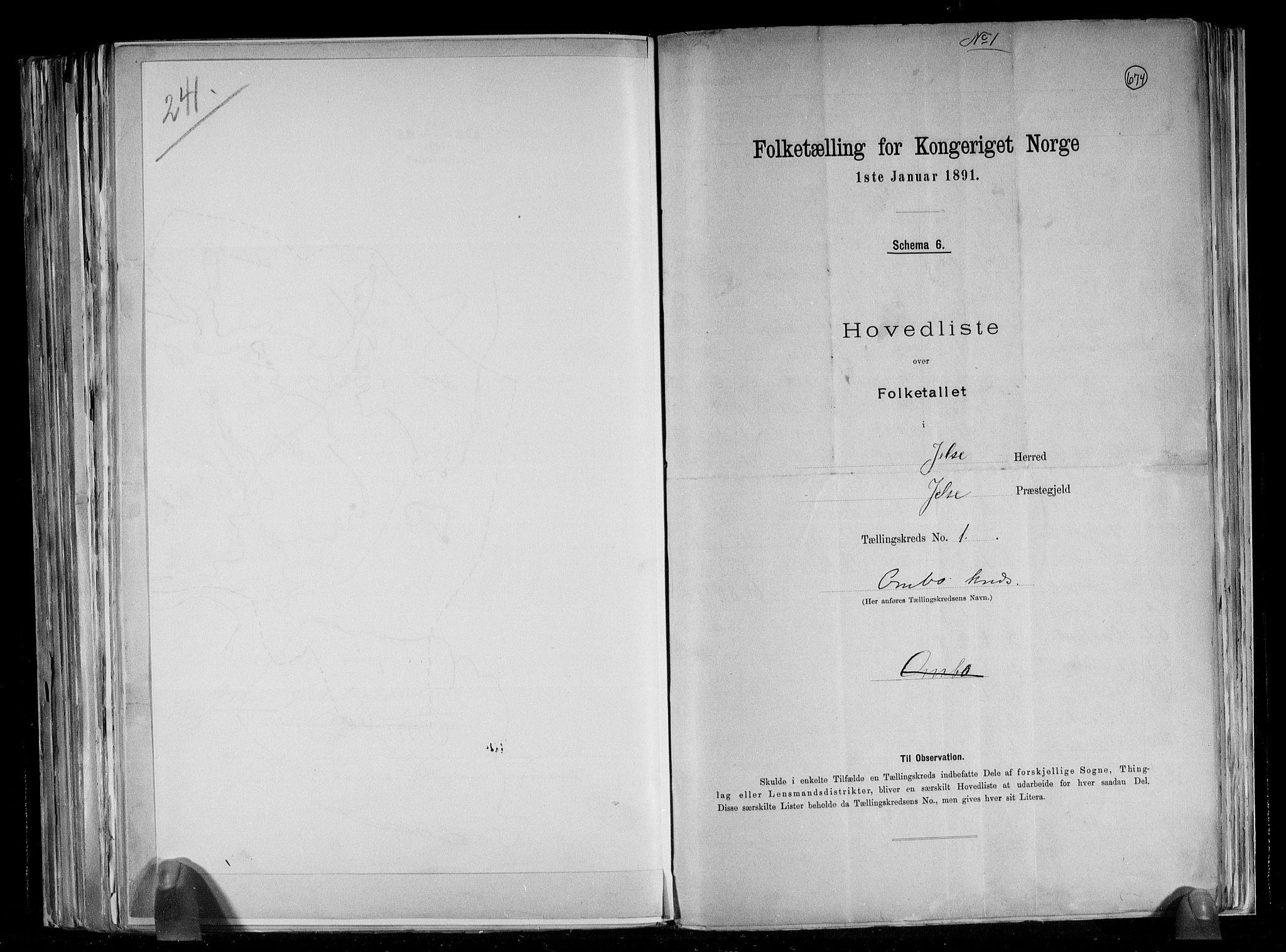 RA, Folketelling 1891 for 1138 Jelsa herred, 1891, s. 5