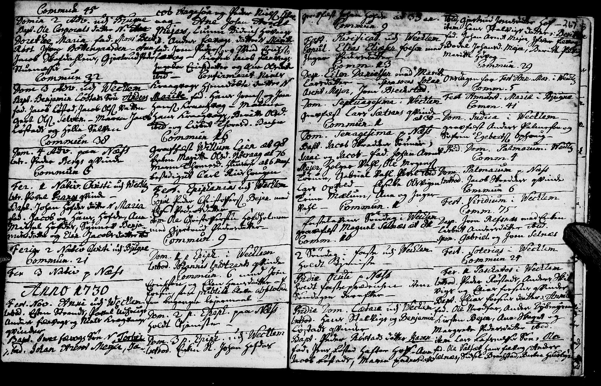SAT, Ministerialprotokoller, klokkerbøker og fødselsregistre - Sør-Trøndelag, 659/L0731: Ministerialbok nr. 659A01, 1709-1731, s. 266-267