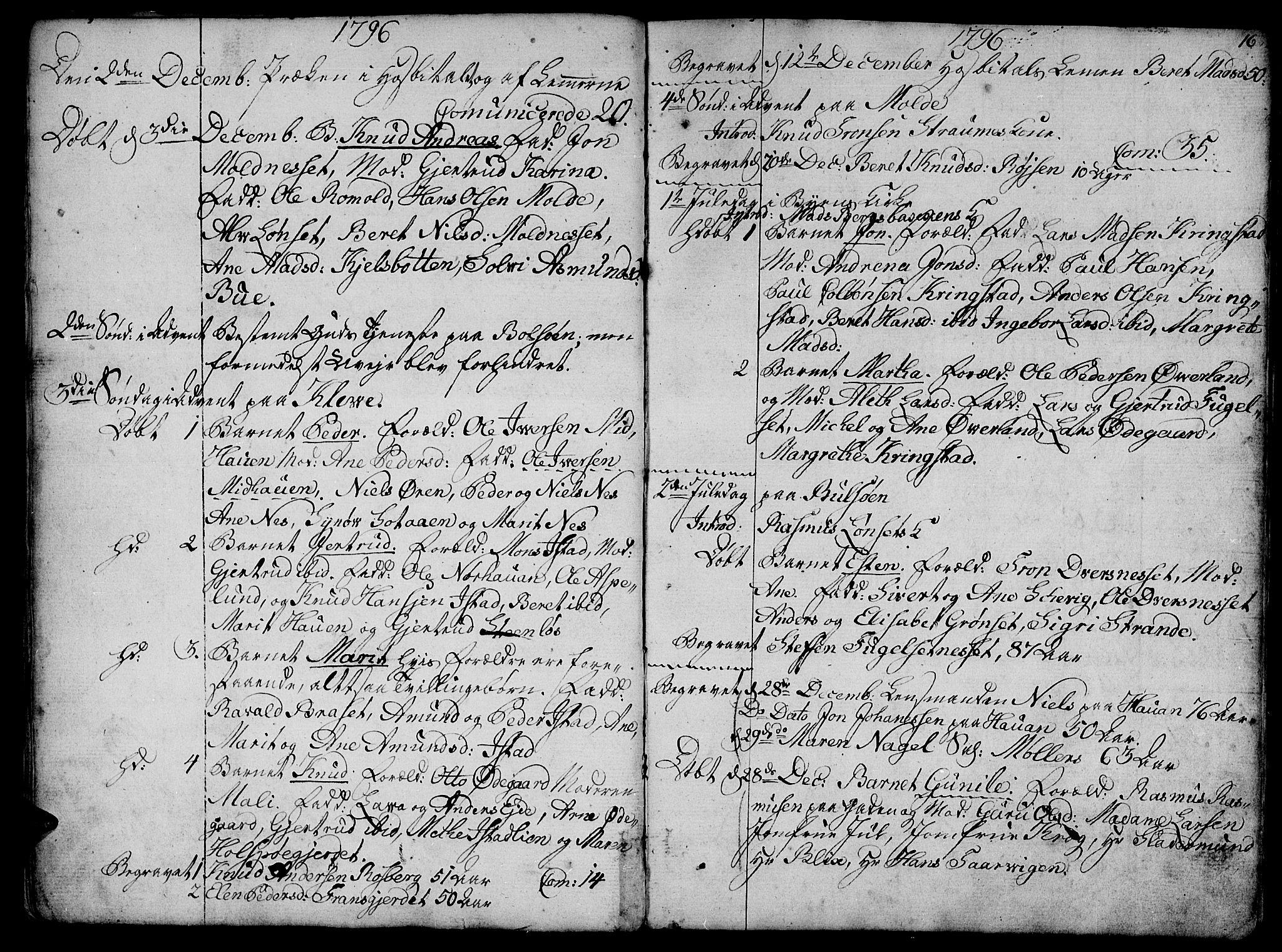 SAT, Ministerialprotokoller, klokkerbøker og fødselsregistre - Møre og Romsdal, 555/L0649: Ministerialbok nr. 555A02 /1, 1795-1821, s. 16