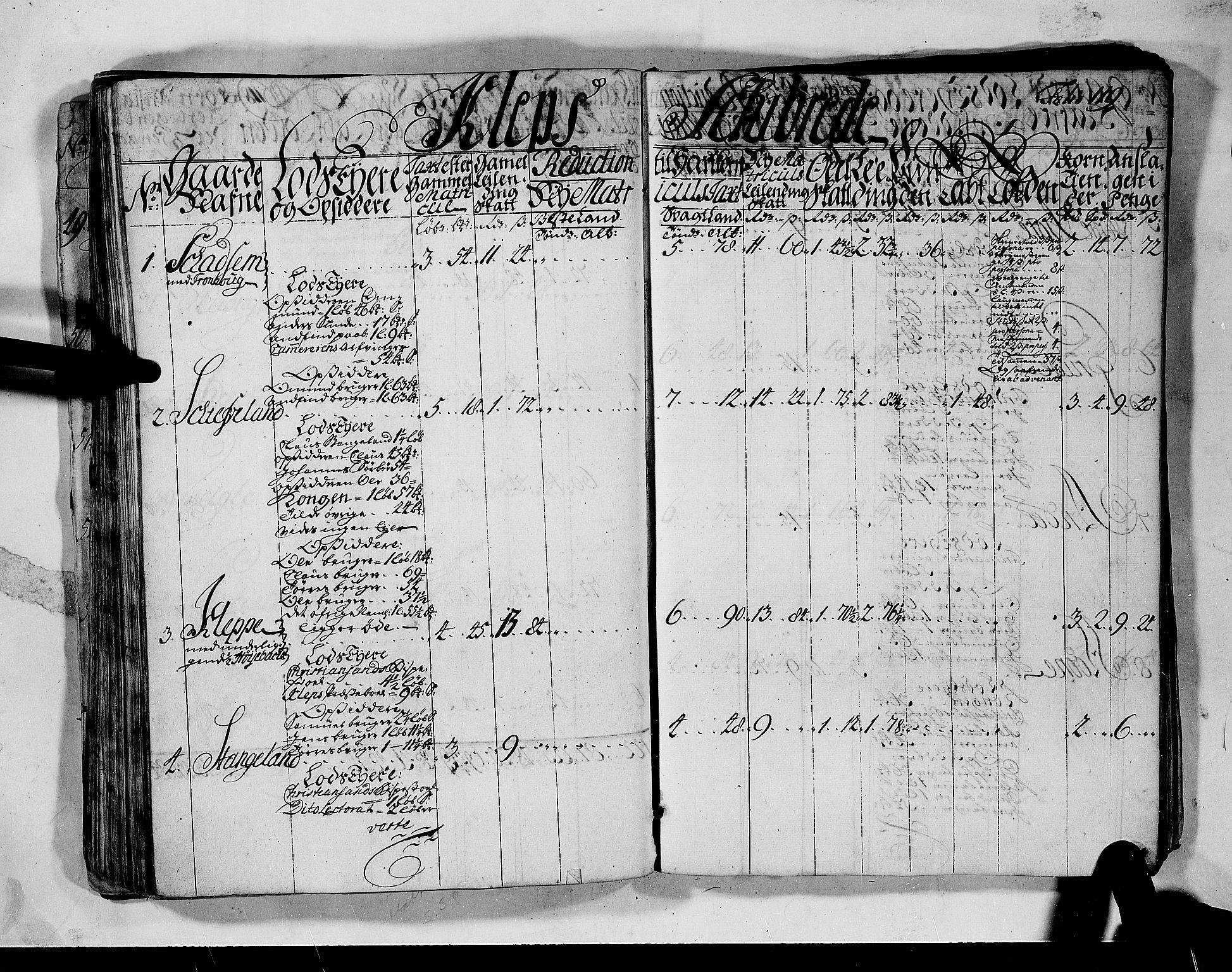 RA, Rentekammeret inntil 1814, Realistisk ordnet avdeling, N/Nb/Nbf/L0132: Jæren og Dalane matrikkelprotokoll, 1723, s. 118b-119a