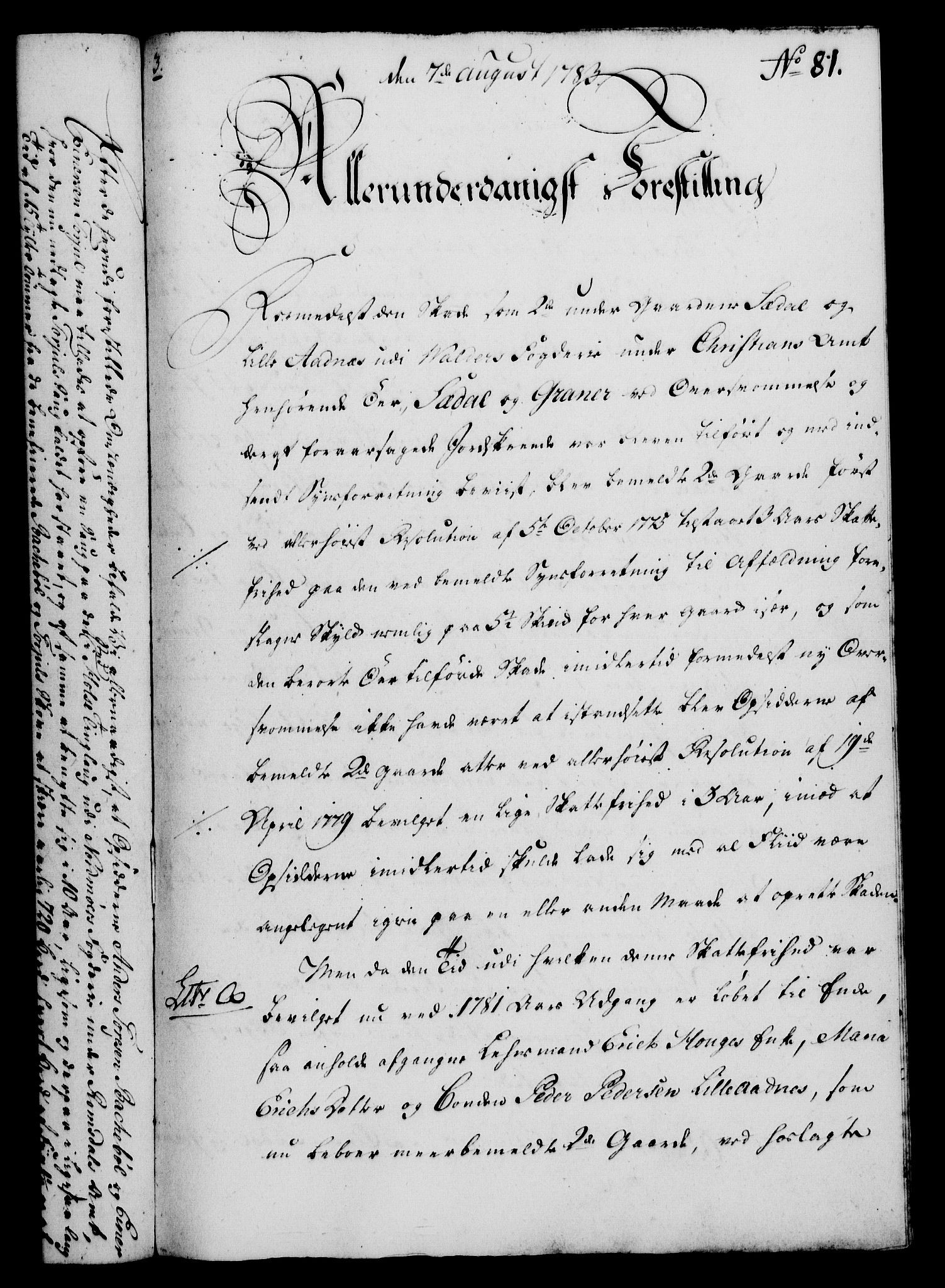 RA, Rentekammeret, Kammerkanselliet, G/Gf/Gfa/L0065: Norsk relasjons- og resolusjonsprotokoll (merket RK 52.65), 1783, s. 608