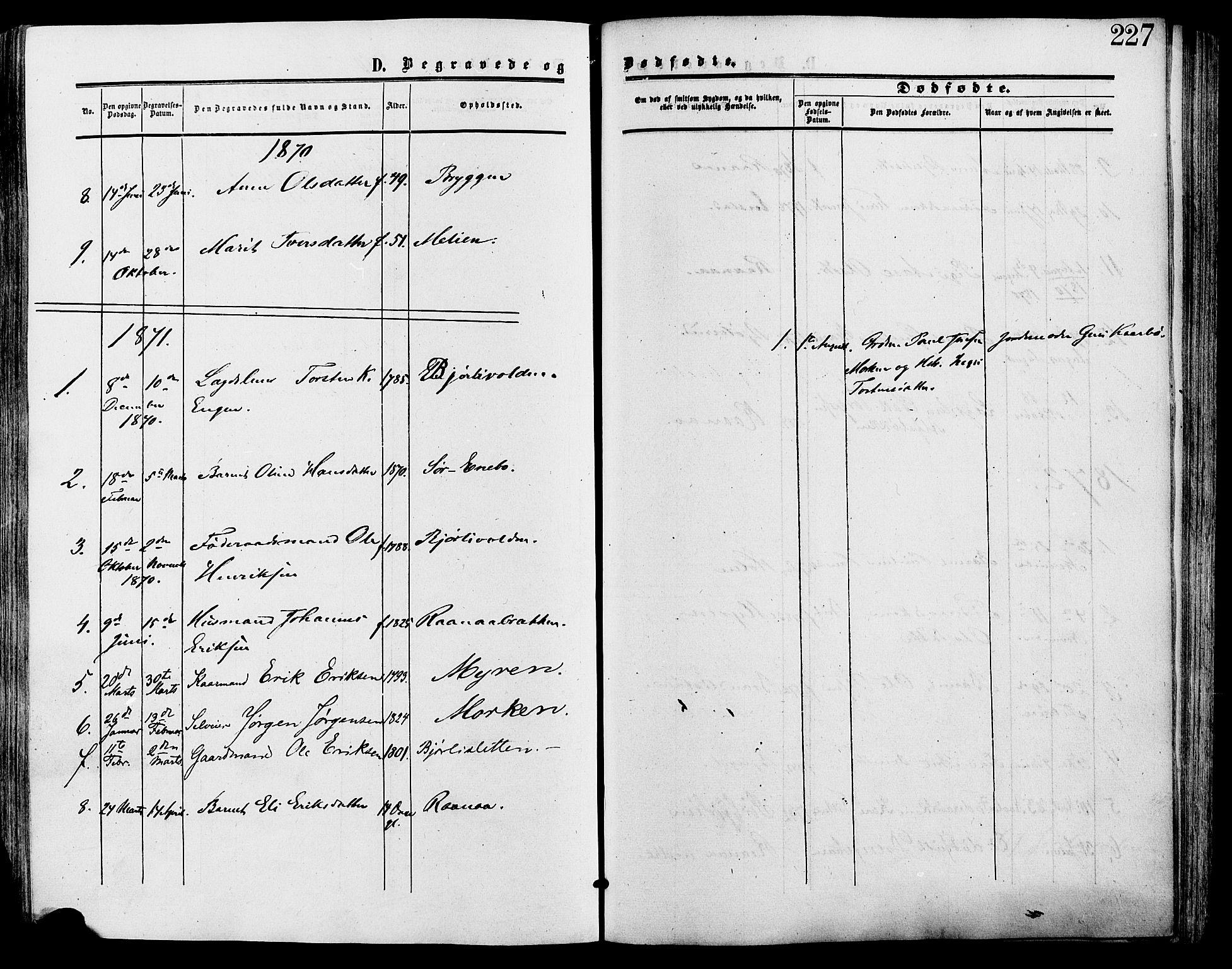 SAH, Lesja prestekontor, Ministerialbok nr. 9, 1854-1889, s. 227