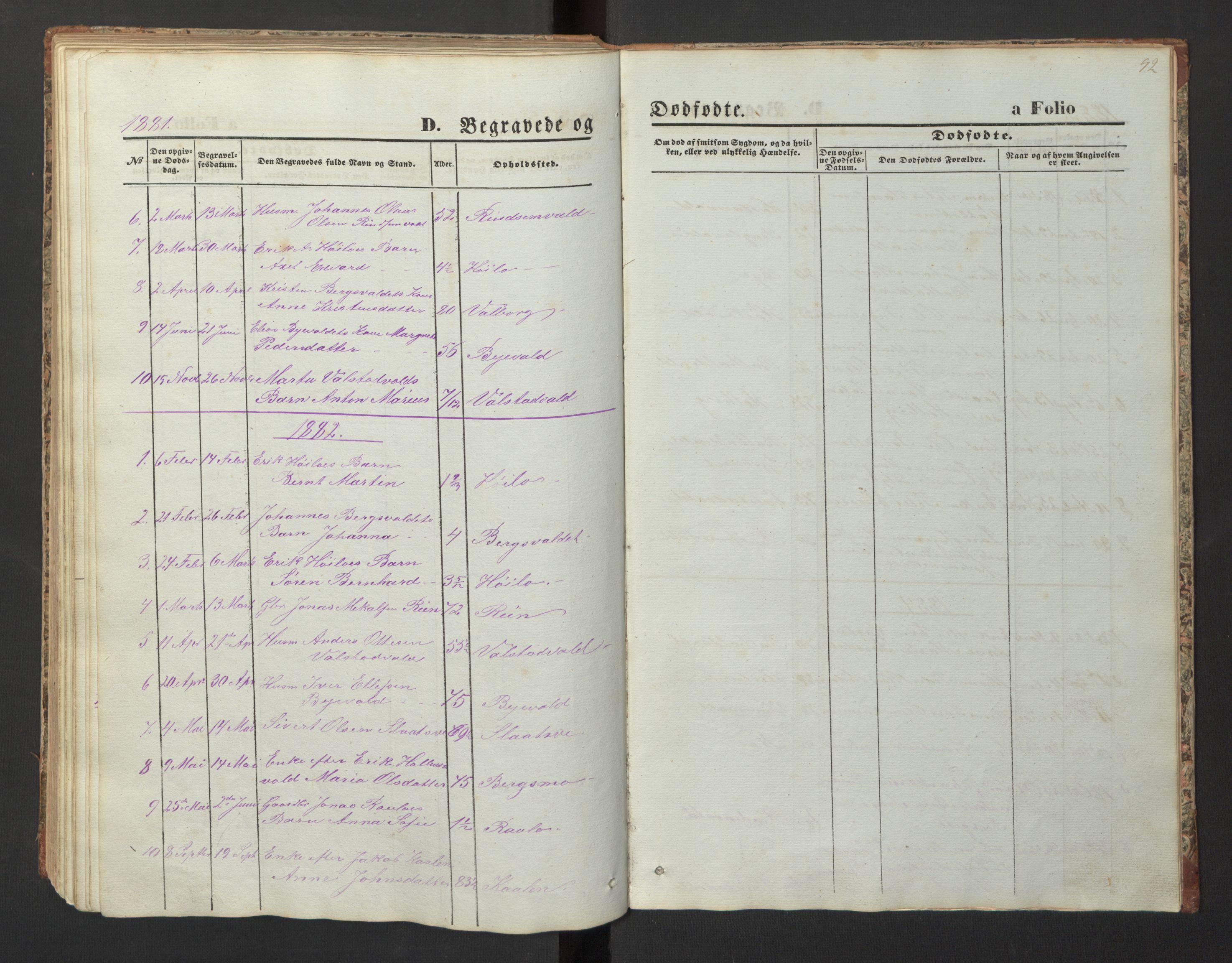 SAT, Ministerialprotokoller, klokkerbøker og fødselsregistre - Nord-Trøndelag, 726/L0271: Klokkerbok nr. 726C02, 1869-1897, s. 92