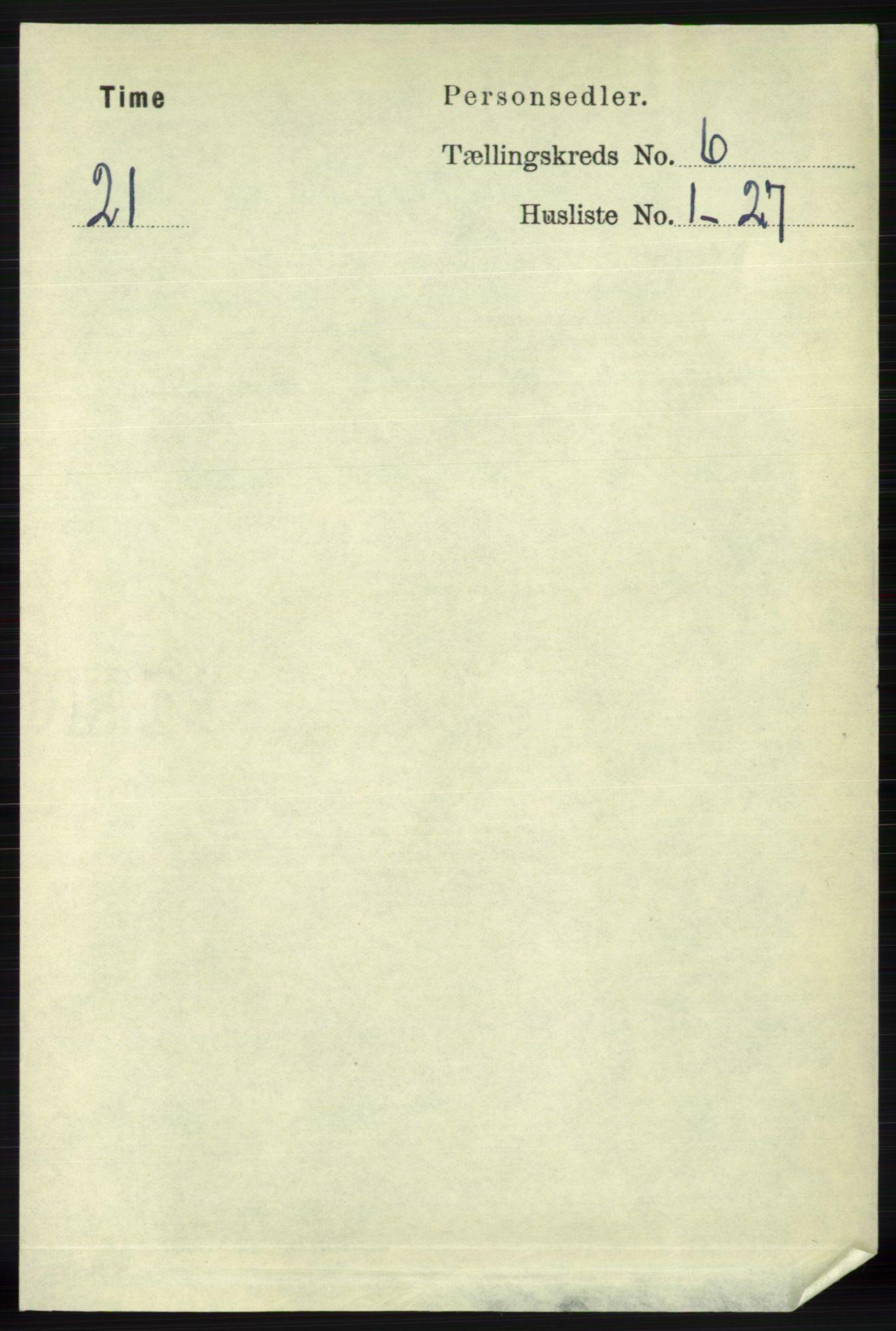 RA, Folketelling 1891 for 1121 Time herred, 1891, s. 2376