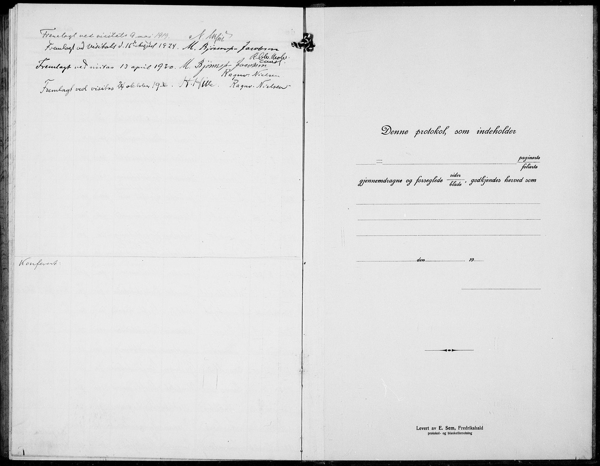 SAH, Jevnaker prestekontor, Klokkerbok nr. 5, 1919-1934