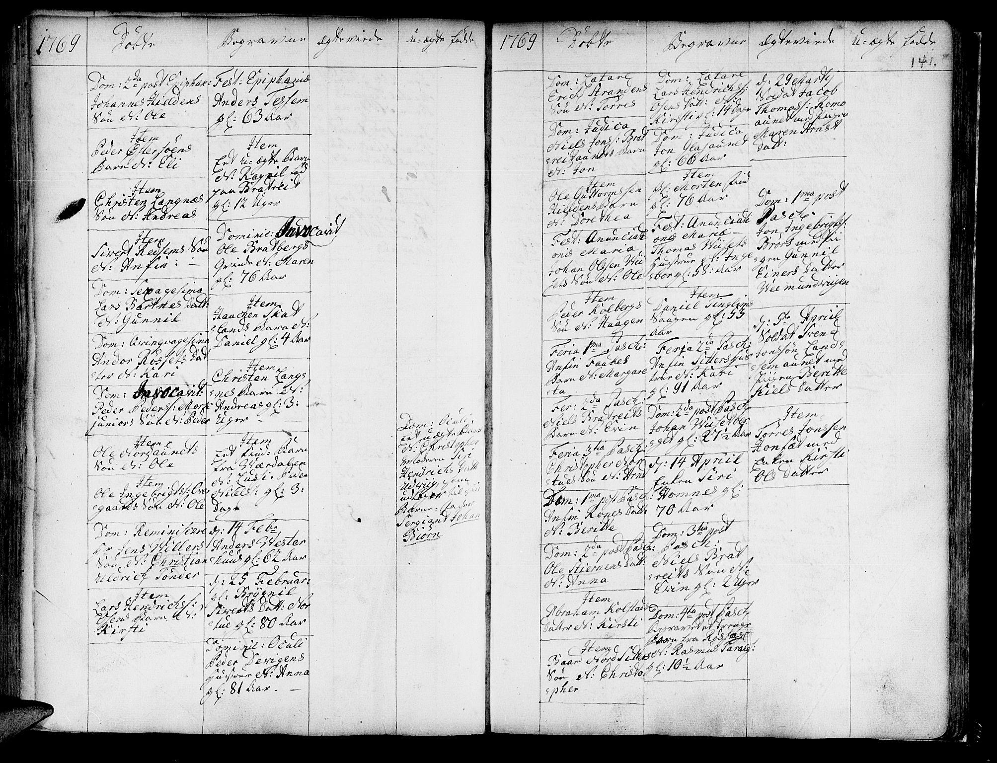 SAT, Ministerialprotokoller, klokkerbøker og fødselsregistre - Nord-Trøndelag, 741/L0385: Ministerialbok nr. 741A01, 1722-1815, s. 141