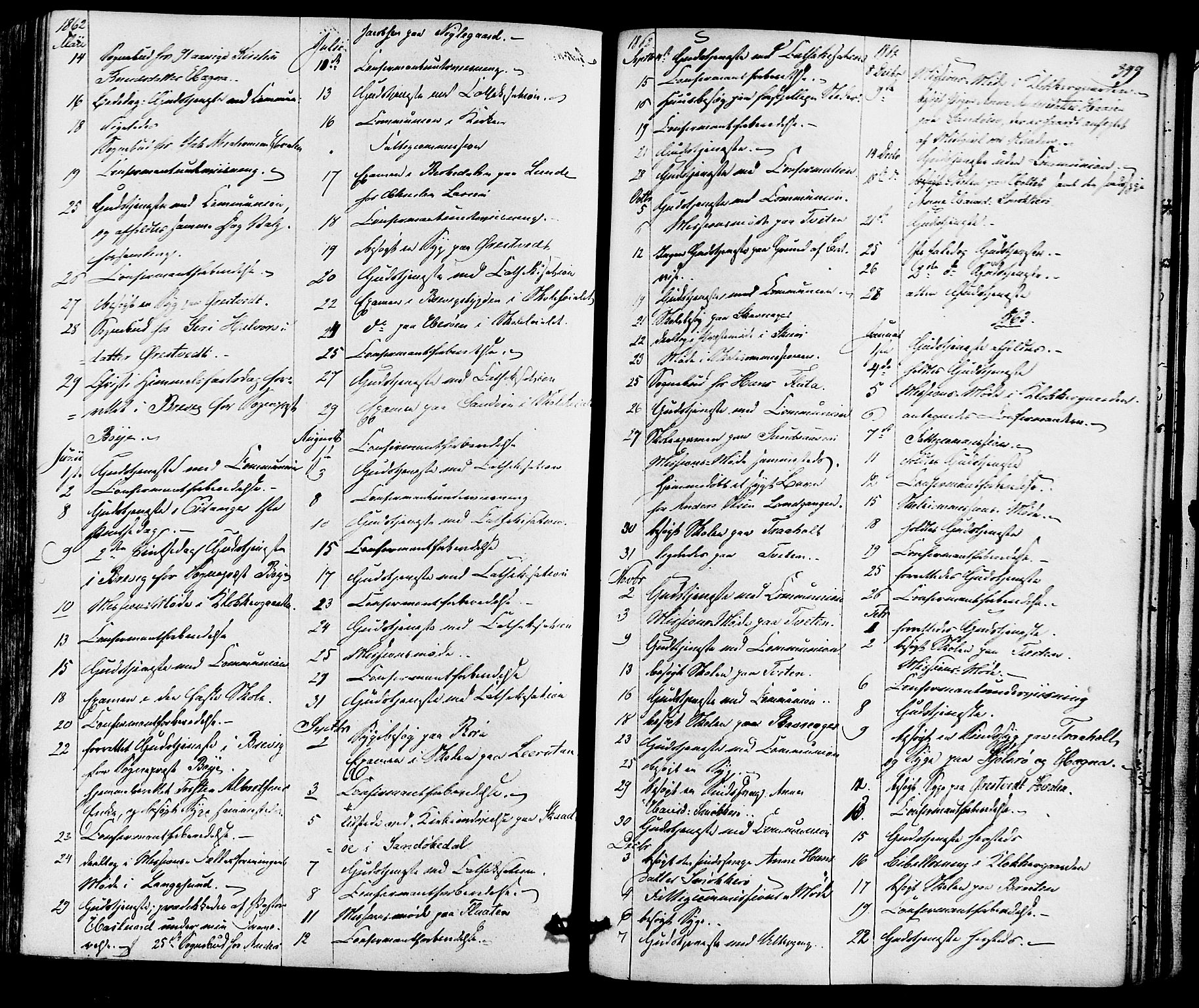 SAKO, Eidanger kirkebøker, F/Fa/L0010: Ministerialbok nr. 10, 1859-1874, s. 399