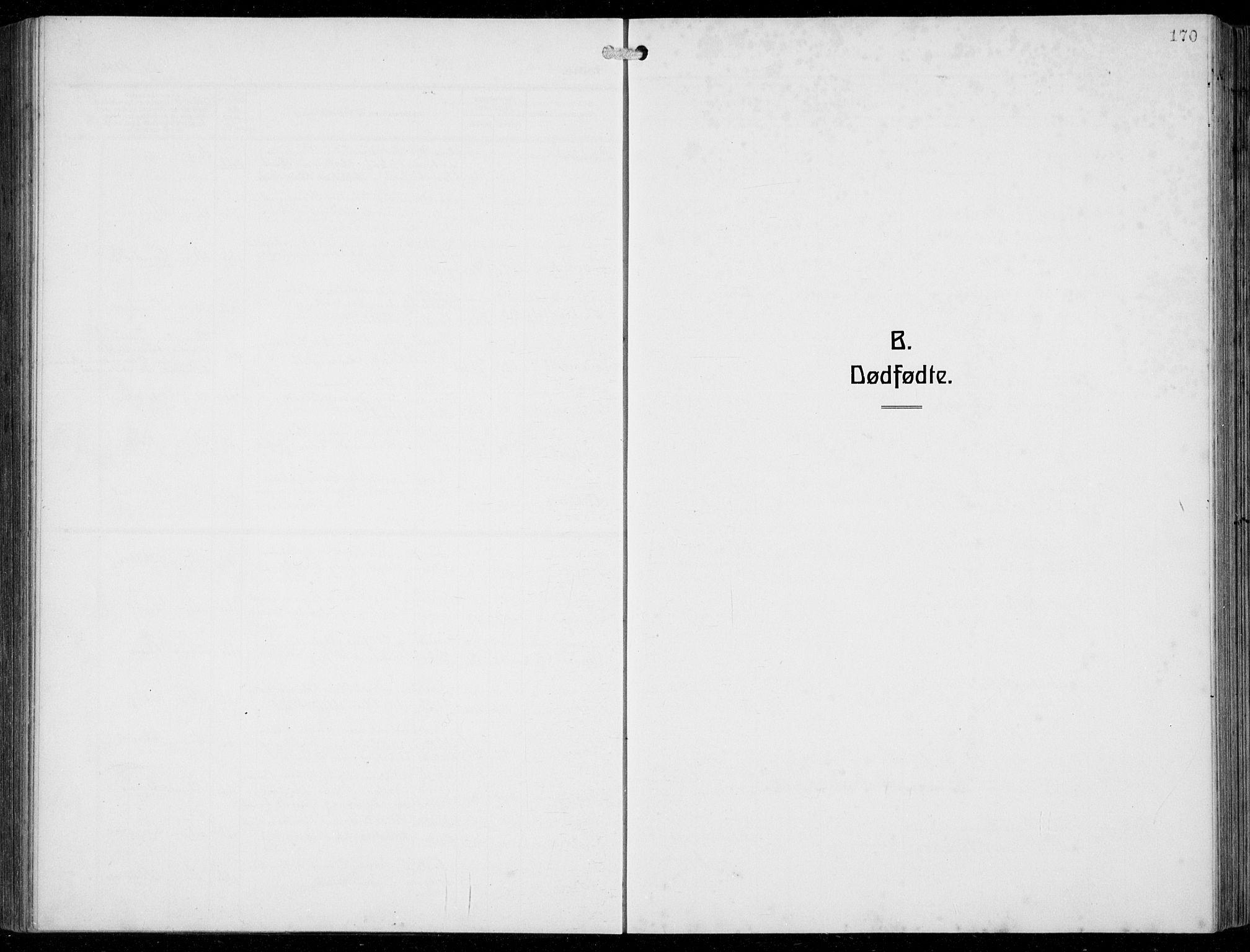 SAB, Fjell Sokneprestembete, H/Hab: Klokkerbok nr. A  6, 1918-1936, s. 170