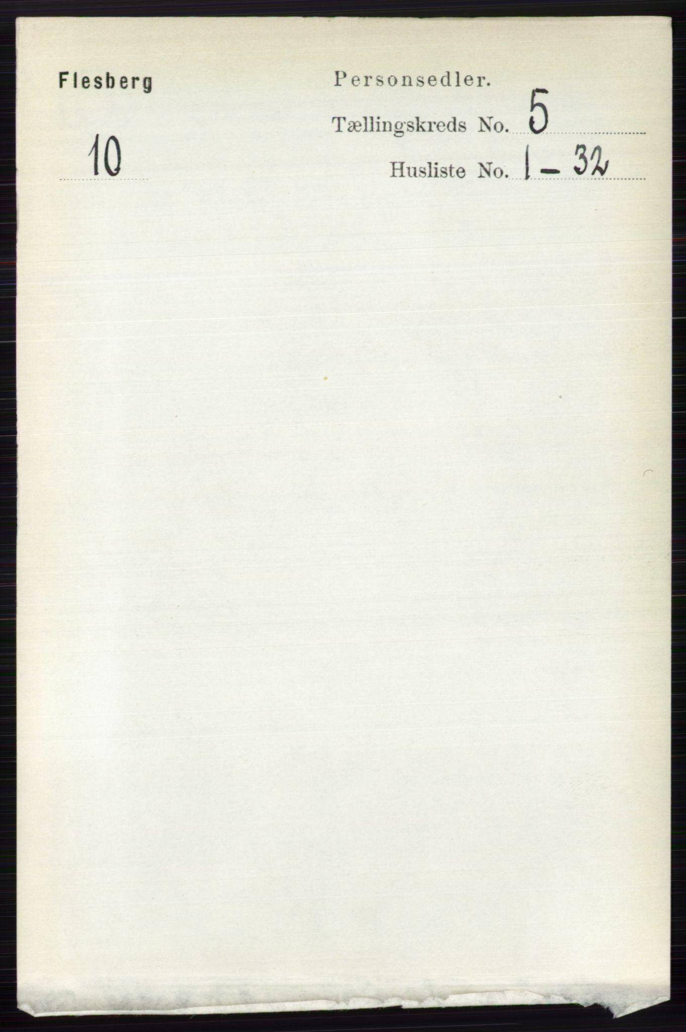 RA, Folketelling 1891 for 0631 Flesberg herred, 1891, s. 721