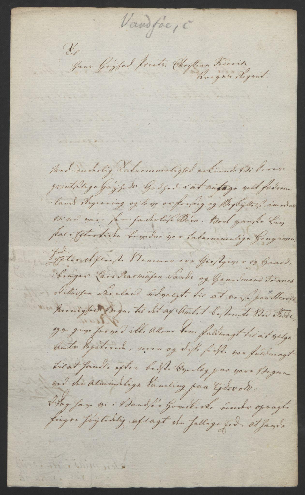 RA, Statsrådssekretariatet, D/Db/L0008: Fullmakter for Eidsvollsrepresentantene i 1814. , 1814, s. 189