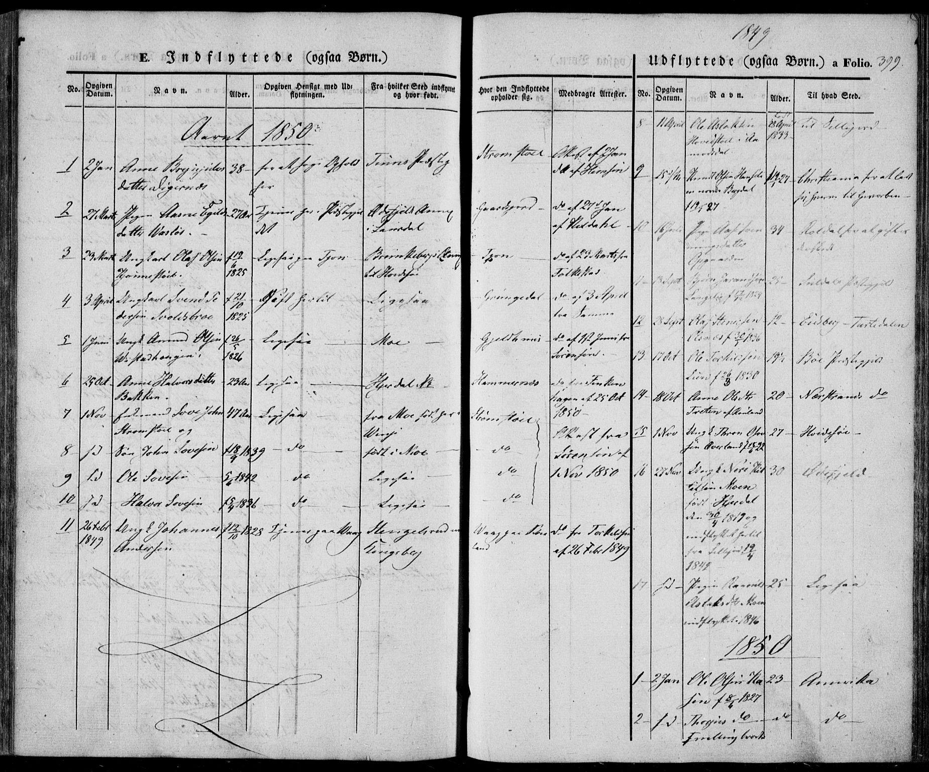 SAKO, Vinje kirkebøker, F/Fa/L0004: Ministerialbok nr. I 4, 1843-1869, s. 399