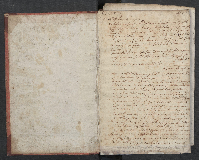 SAST, Pa 0003 - Ploug & Sundt, handelshuset, B/L0002: Kopibok, 1770-1775, s. 1a