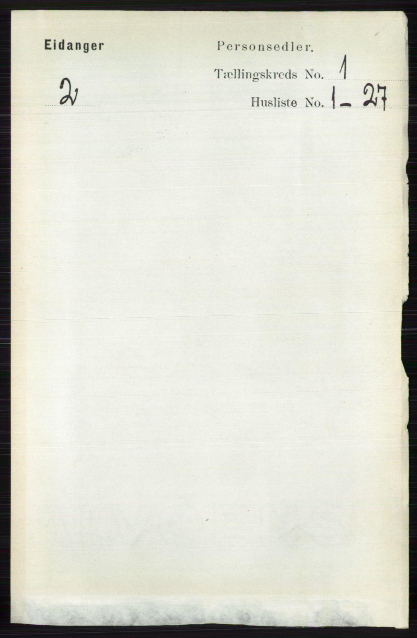 RA, Folketelling 1891 for 0813 Eidanger herred, 1891, s. 148