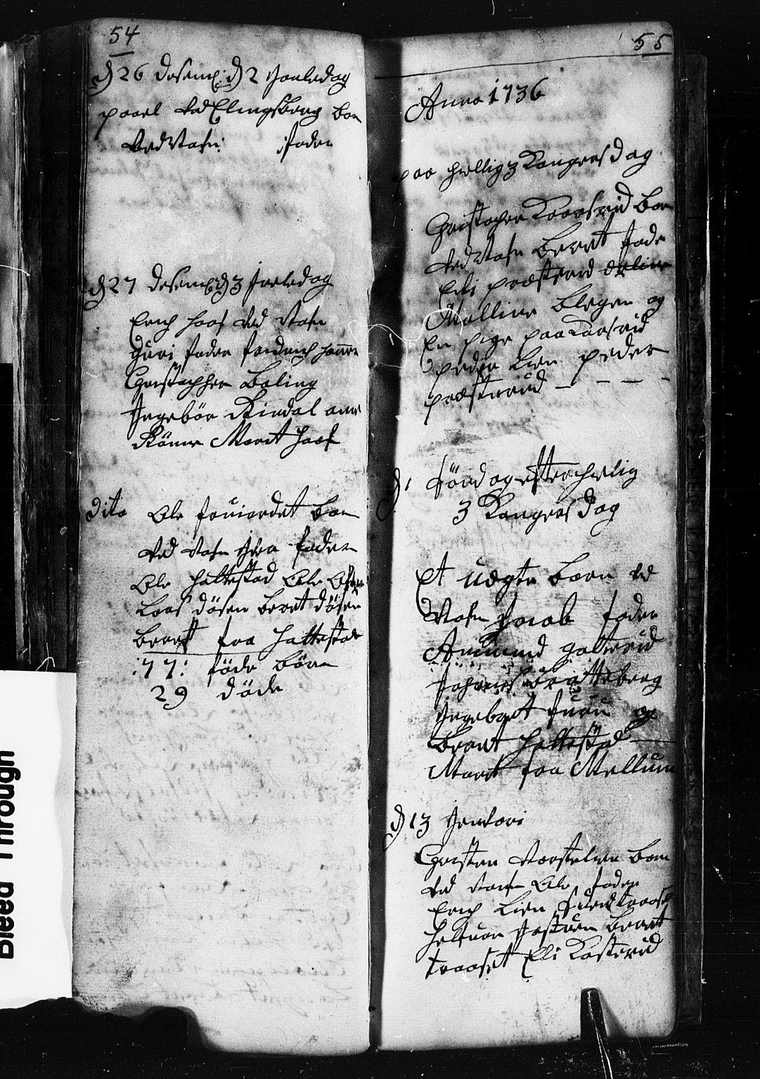 SAH, Fåberg prestekontor, Klokkerbok nr. 1, 1727-1767, s. 54-55