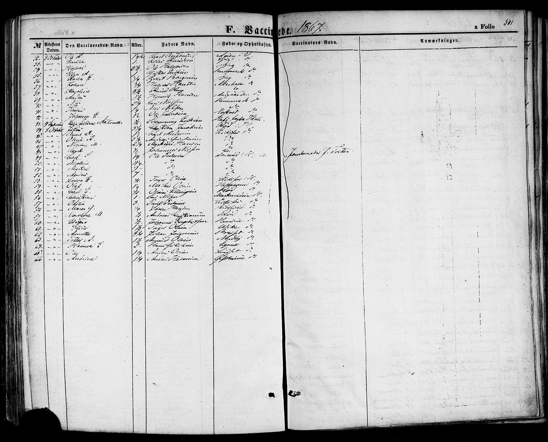 SAKO, Hof kirkebøker, F/Fa/L0006: Ministerialbok nr. I 6, 1851-1877, s. 501