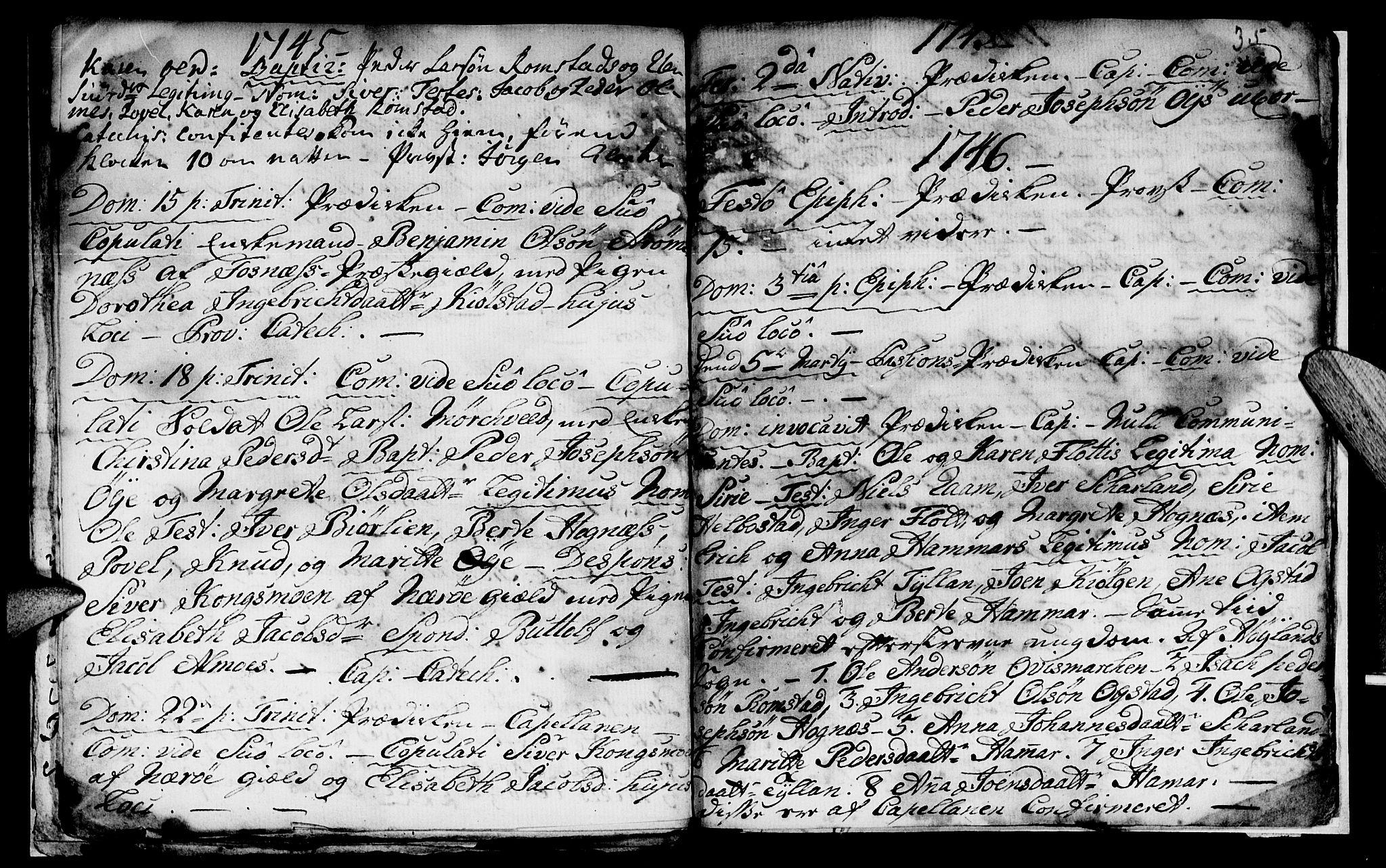 SAT, Ministerialprotokoller, klokkerbøker og fødselsregistre - Nord-Trøndelag, 765/L0560: Ministerialbok nr. 765A01, 1706-1748, s. 35