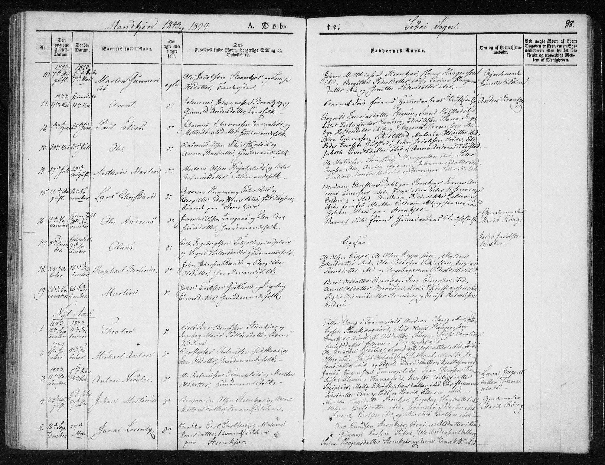 SAT, Ministerialprotokoller, klokkerbøker og fødselsregistre - Nord-Trøndelag, 735/L0339: Ministerialbok nr. 735A06 /2, 1836-1848, s. 88