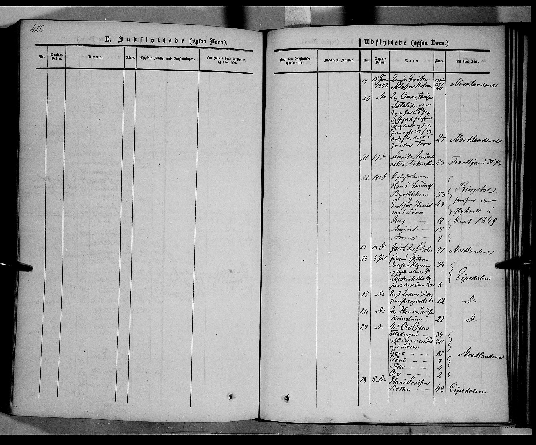 SAH, Nord-Fron prestekontor, Ministerialbok nr. 1, 1851-1864, s. 426