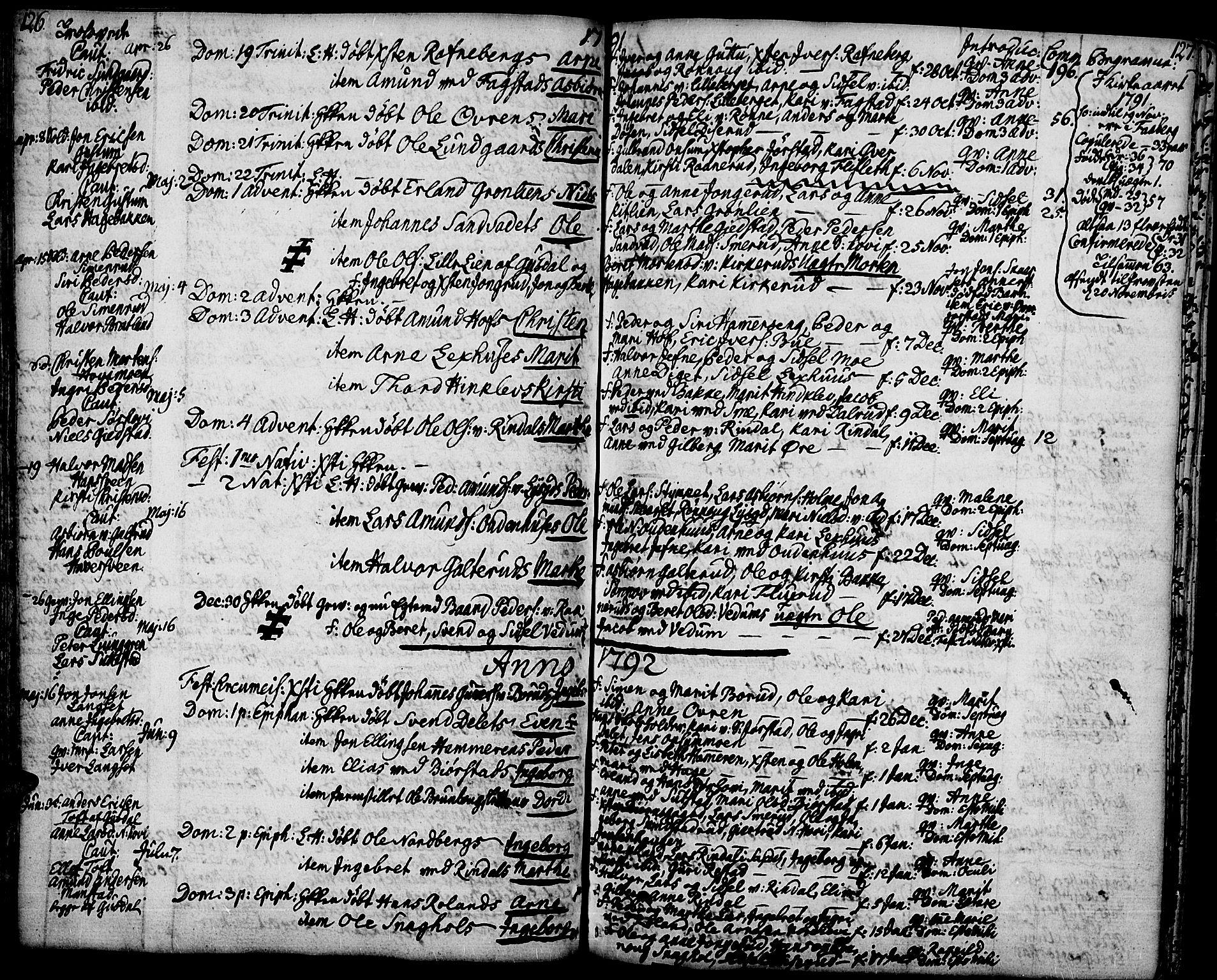 SAH, Fåberg prestekontor, Ministerialbok nr. 2, 1775-1818, s. 126-127