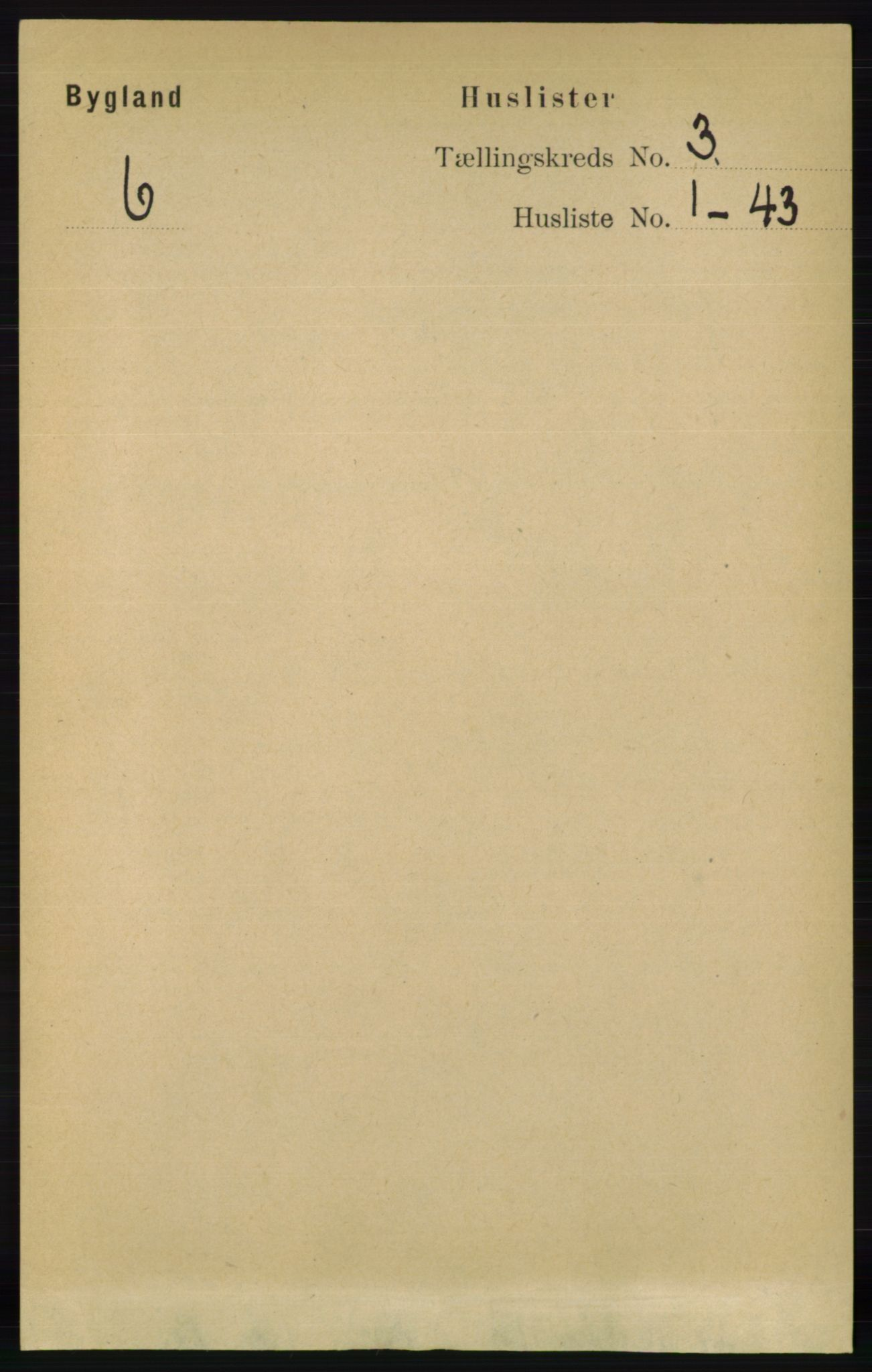 RA, Folketelling 1891 for 0938 Bygland herred, 1891, s. 524