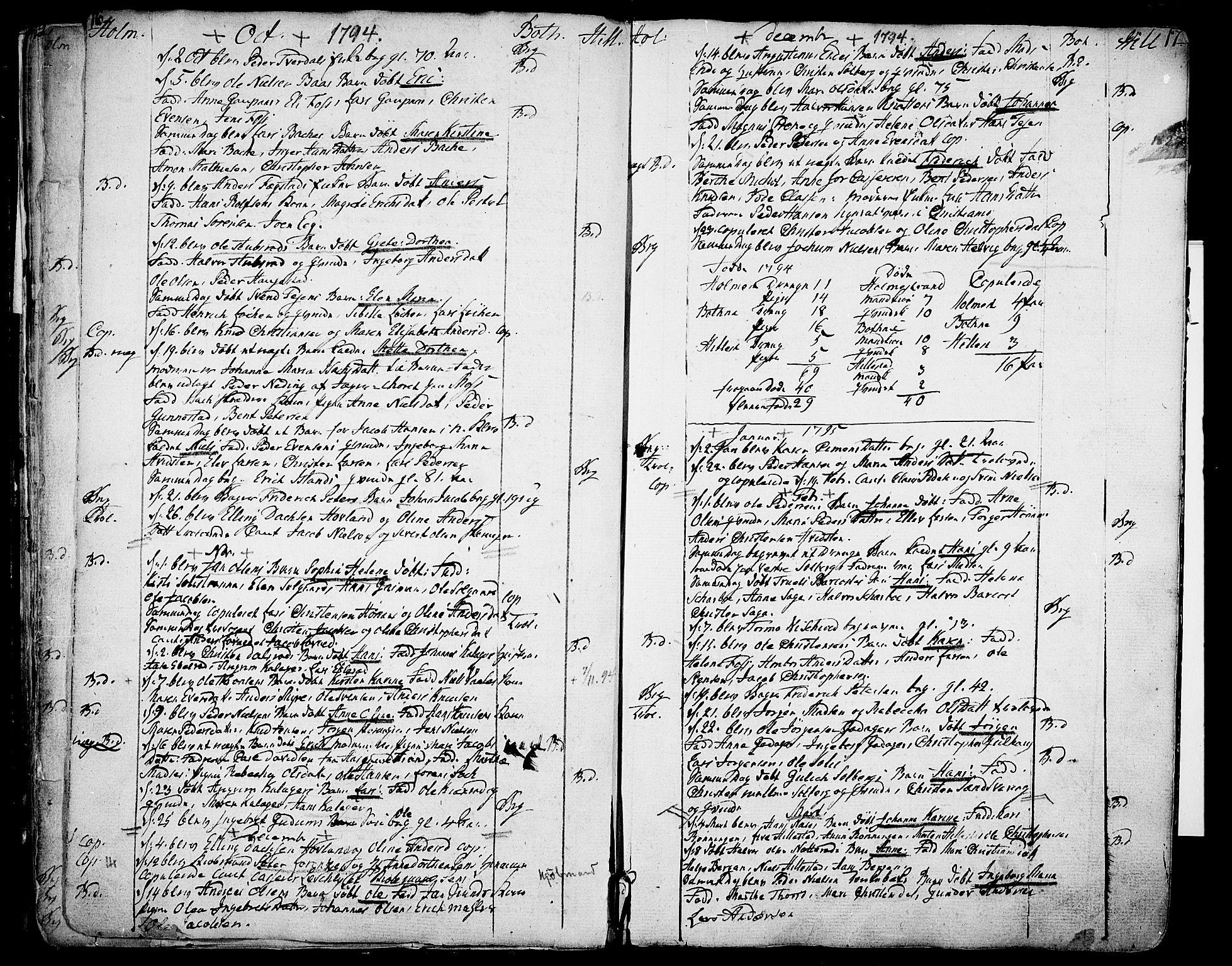 SAKO, Botne kirkebøker, F/Fa/L0003: Ministerialbok nr. I 3 /1, 1792-1844, s. 16-17