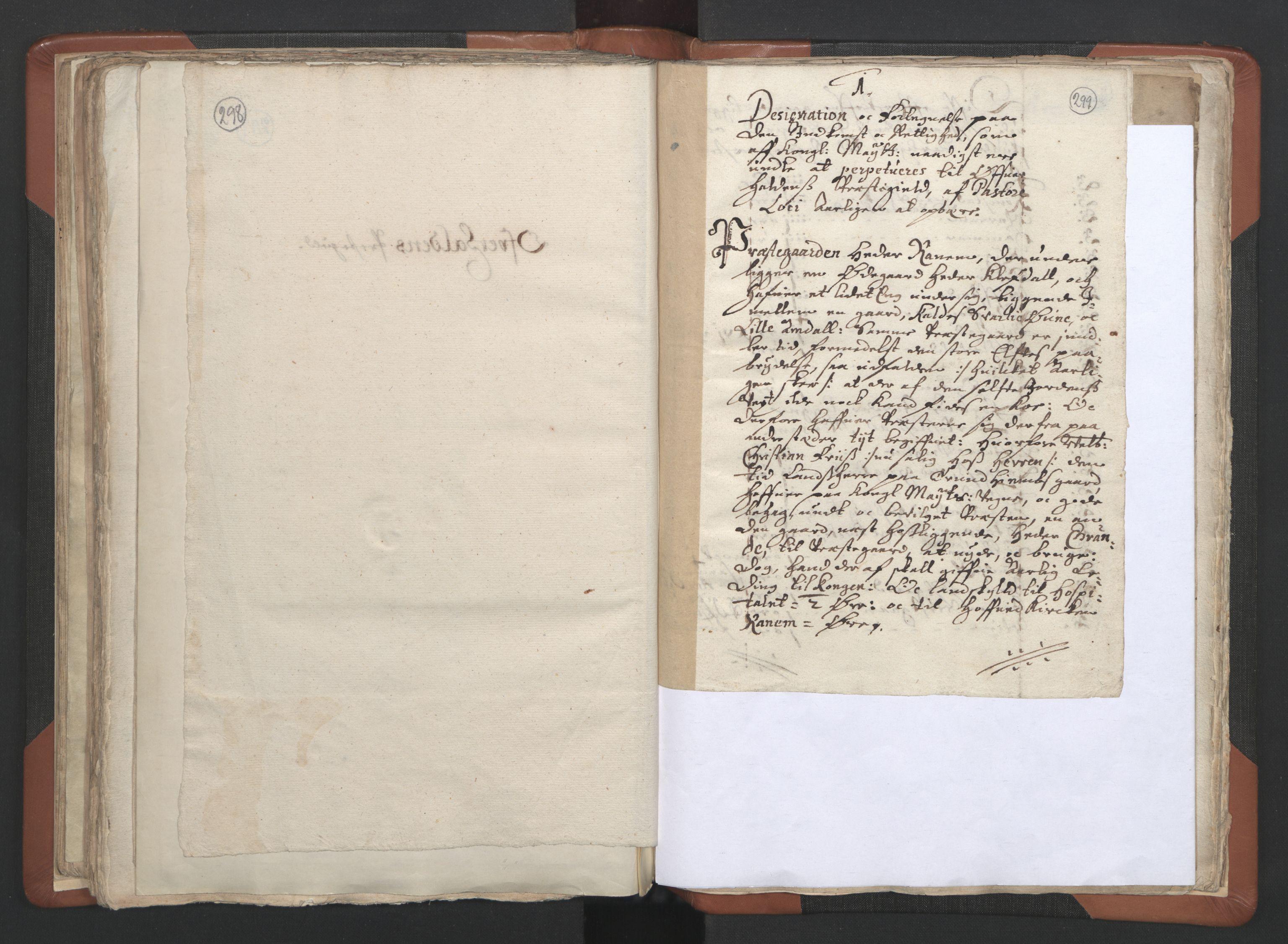RA, Sogneprestenes manntall 1664-1666, nr. 34: Namdal prosti, 1664-1666, s. 298-299