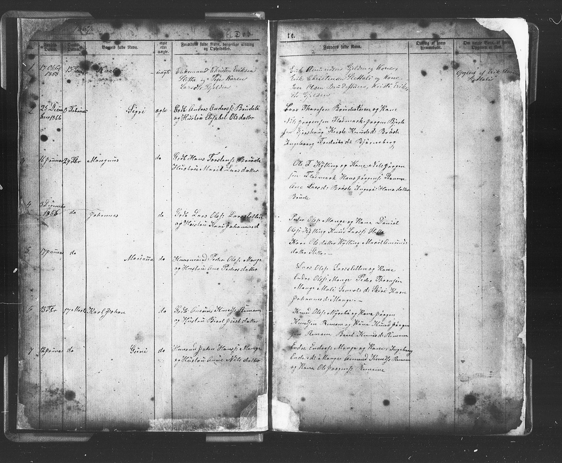 SAT, Ministerialprotokoller, klokkerbøker og fødselsregistre - Møre og Romsdal, 546/L0596: Klokkerbok nr. 546C02, 1867-1921, s. 1