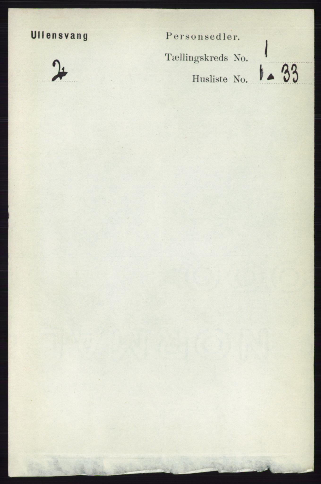 RA, Folketelling 1891 for 1230 Ullensvang herred, 1891, s. 78