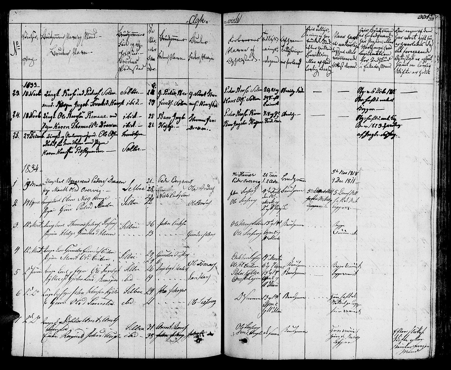 SAT, Ministerialprotokoller, klokkerbøker og fødselsregistre - Sør-Trøndelag, 695/L1143: Ministerialbok nr. 695A05 /1, 1824-1842, s. 322